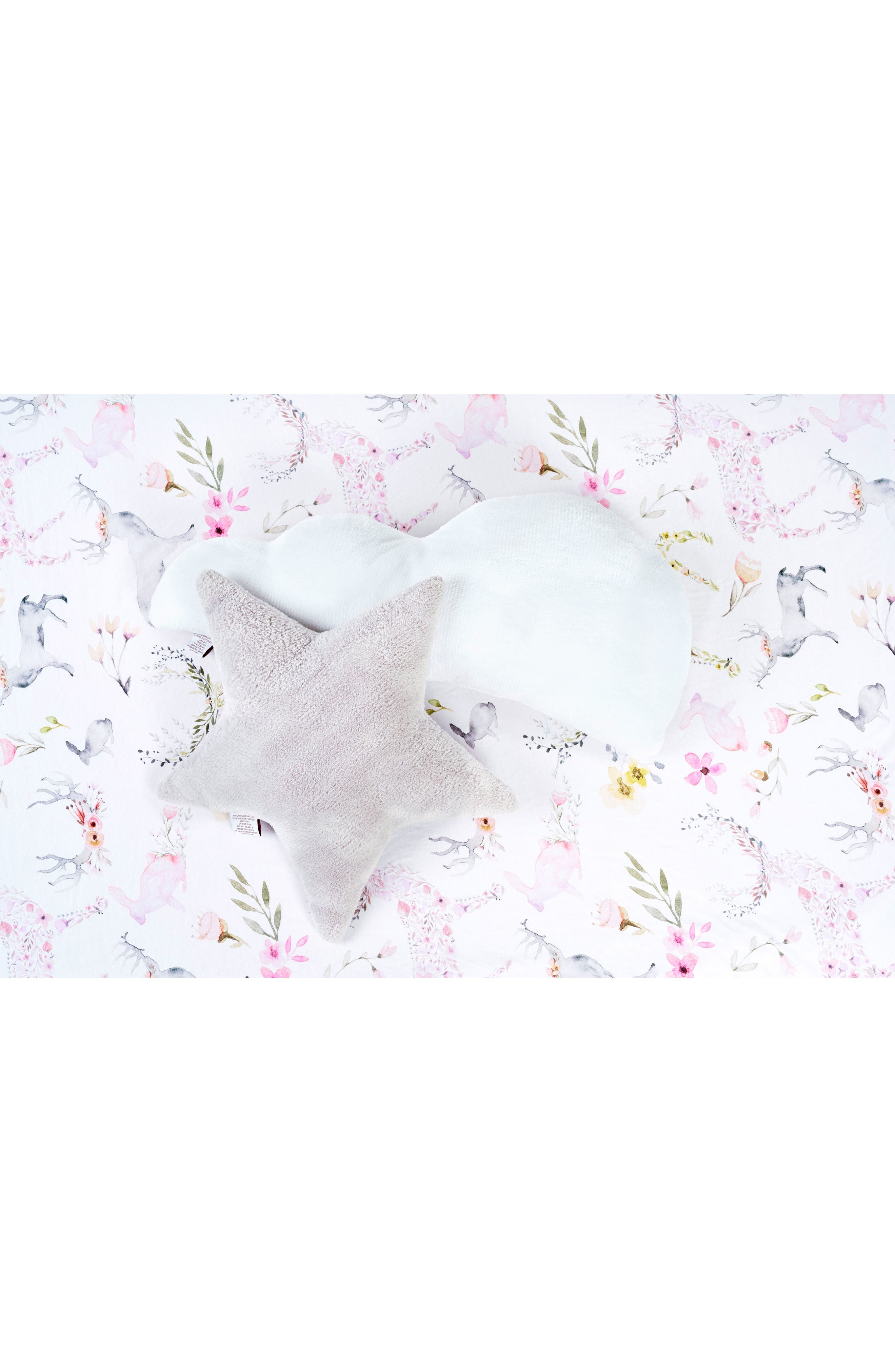 Silver Star & White Cloud Pillow Set,                             Alternate thumbnail 4, color,                             Fawn