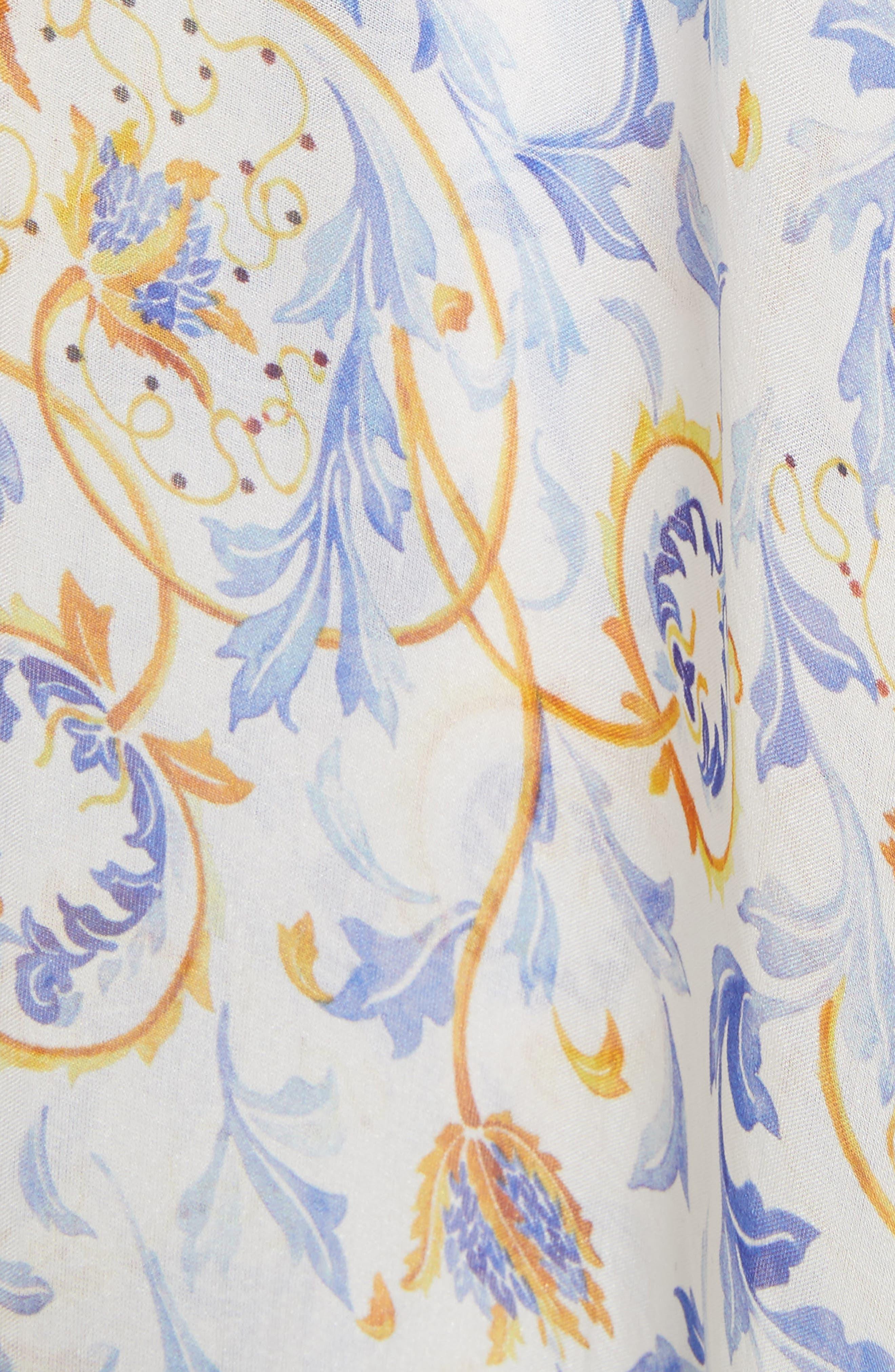 Melina Off the Shoulder High/Low Dress,                             Alternate thumbnail 6, color,                             Blue
