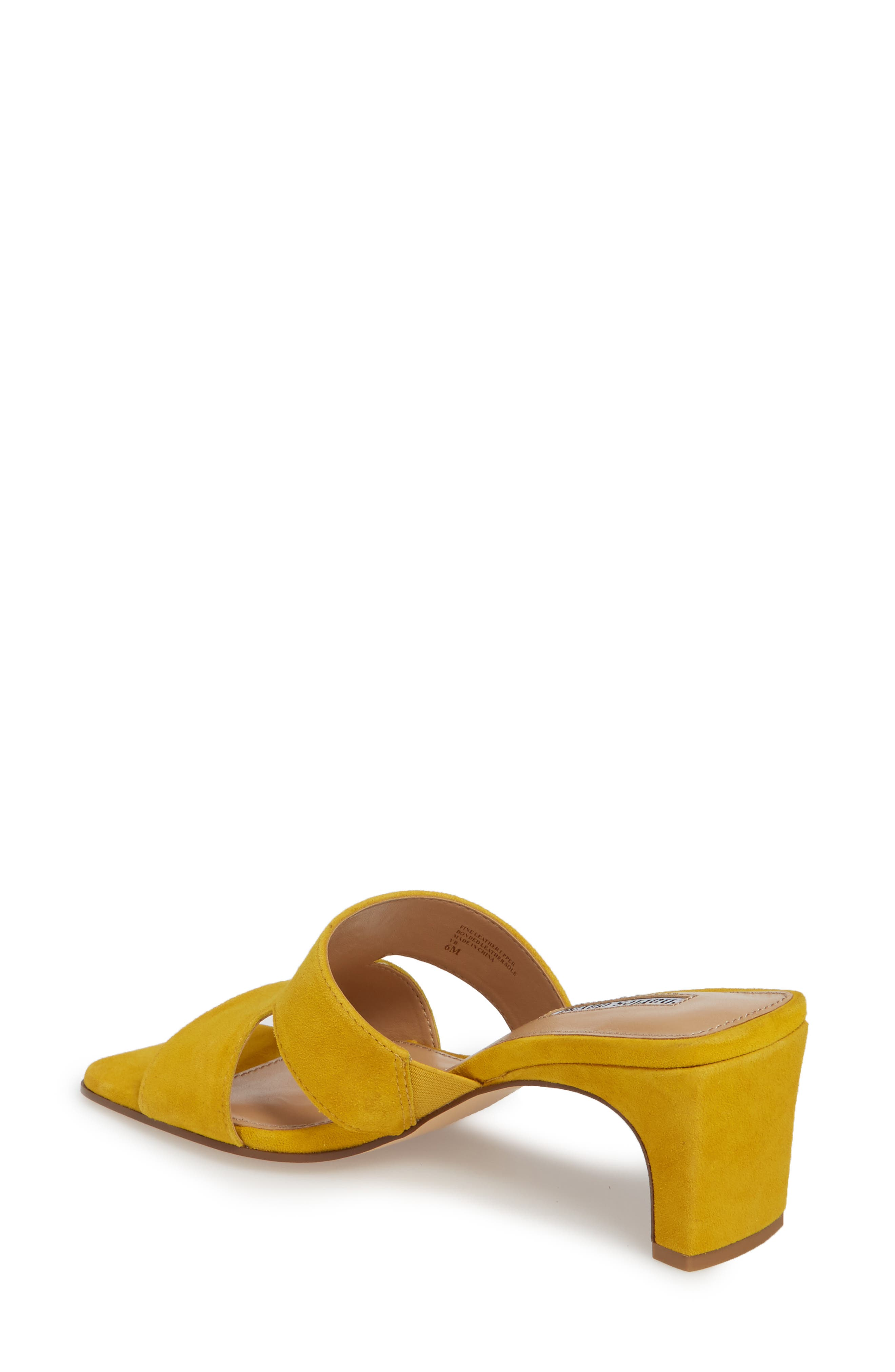 Harley Slide Sandal,                             Alternate thumbnail 2, color,                             Bright Yellow Suede
