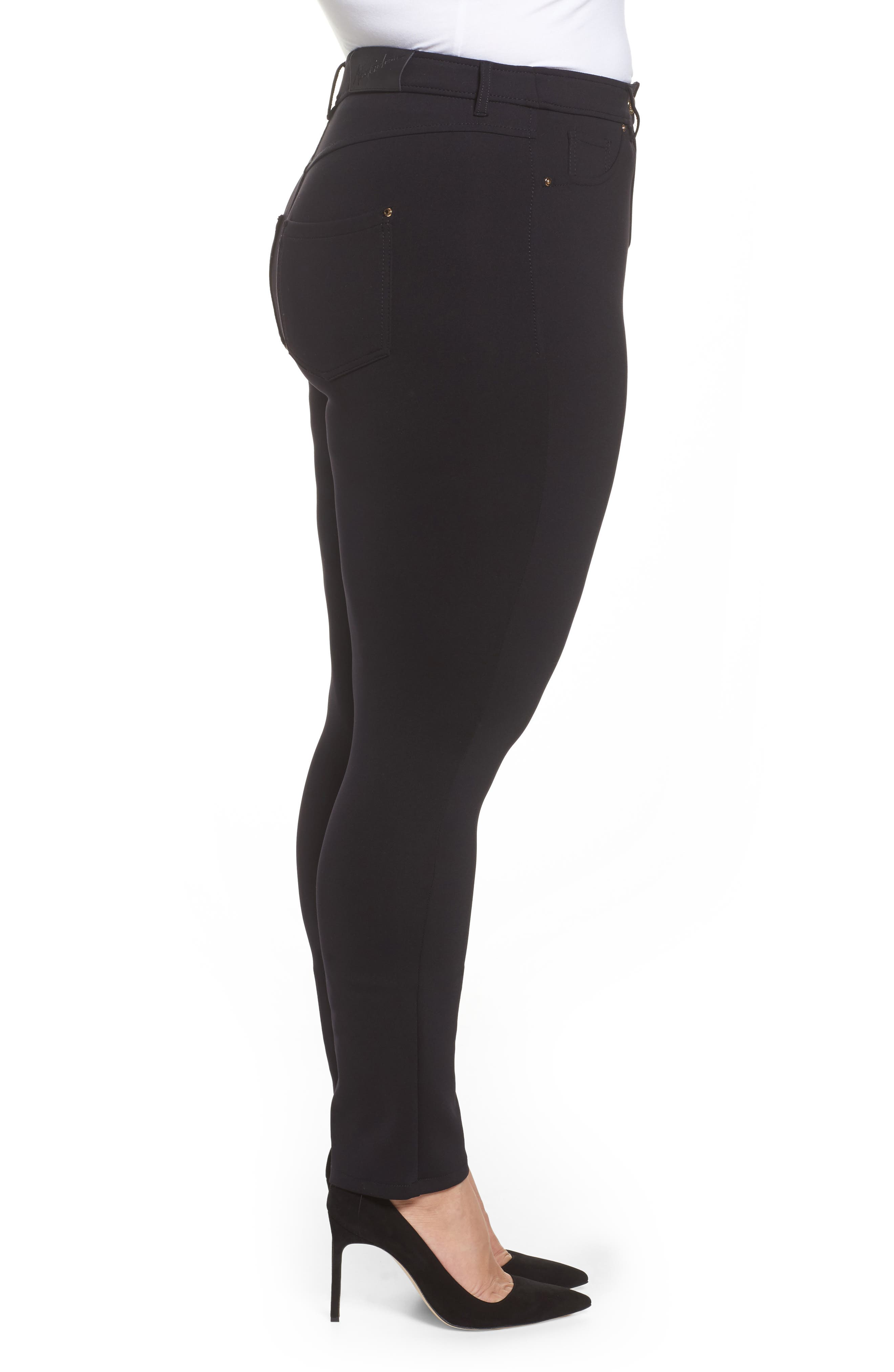 Odalisca Jersey Pants,                             Alternate thumbnail 3, color,                             Black