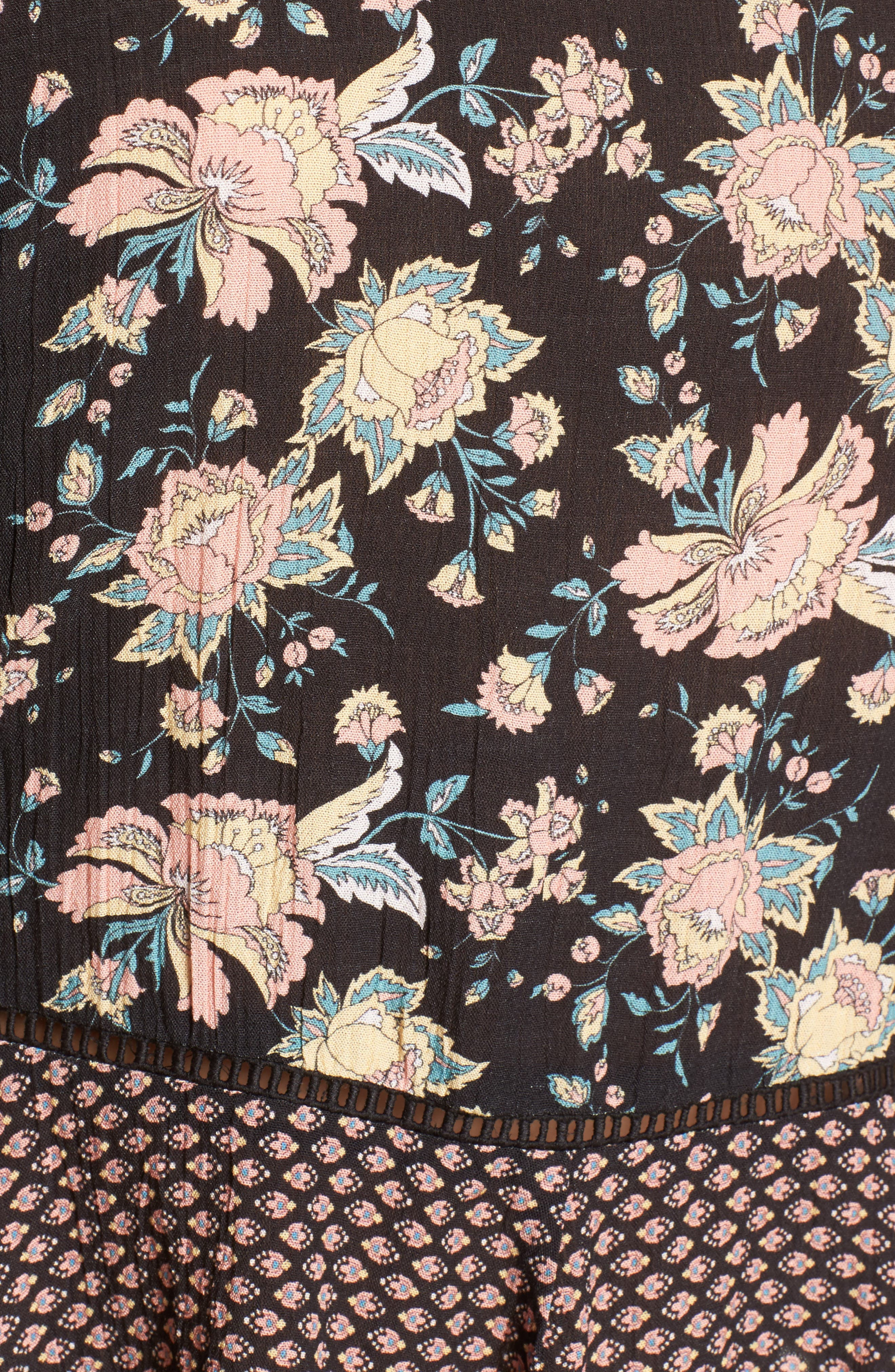 Alternate Image 5  - Band of Gypsies Mix Print Tie Front Top