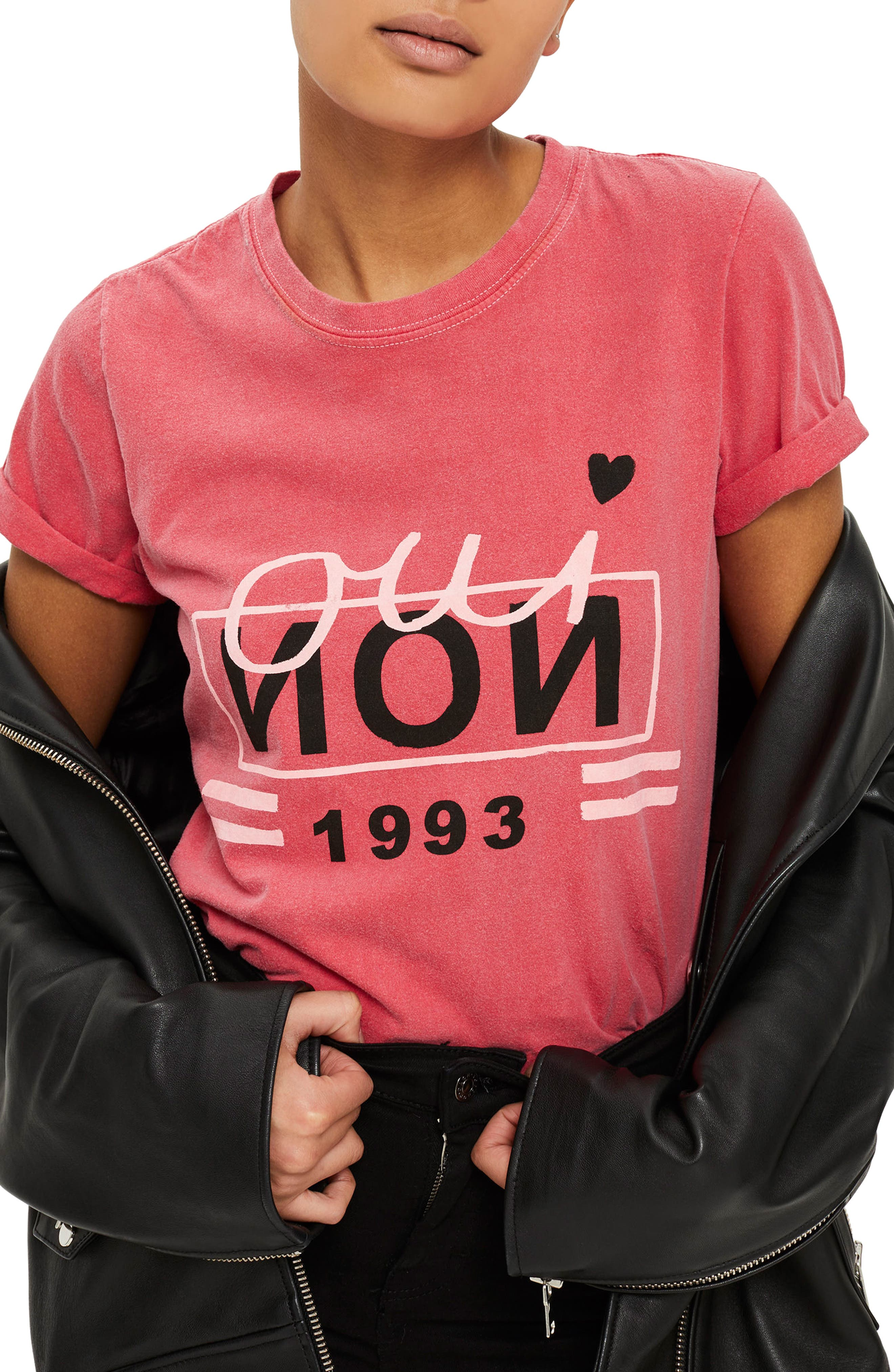 Oui Non 1993 Graphic Tee,                         Main,                         color, Red