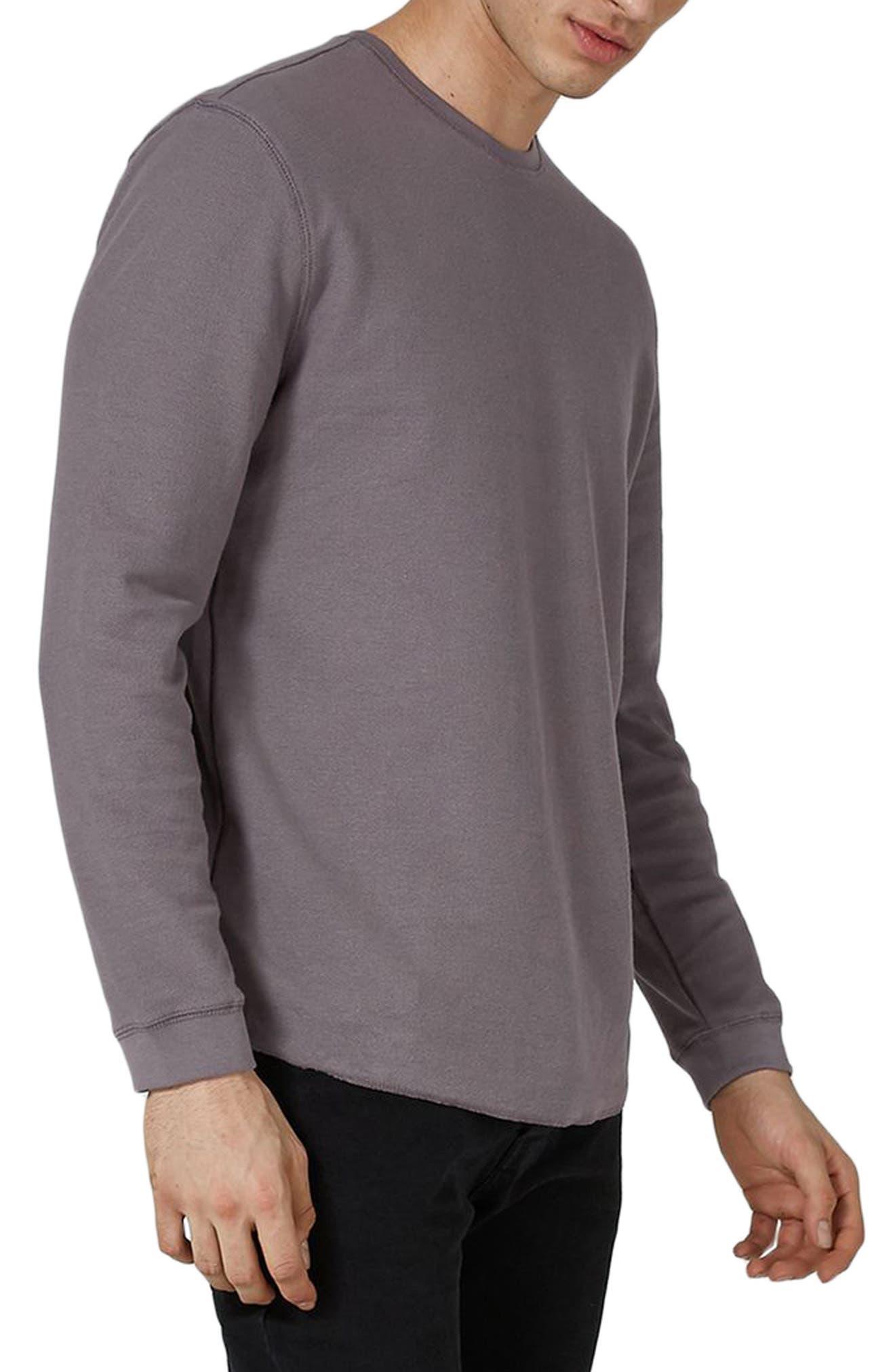 Waffle Knit Long Sleeve T-Shirt,                         Main,                         color, Purple