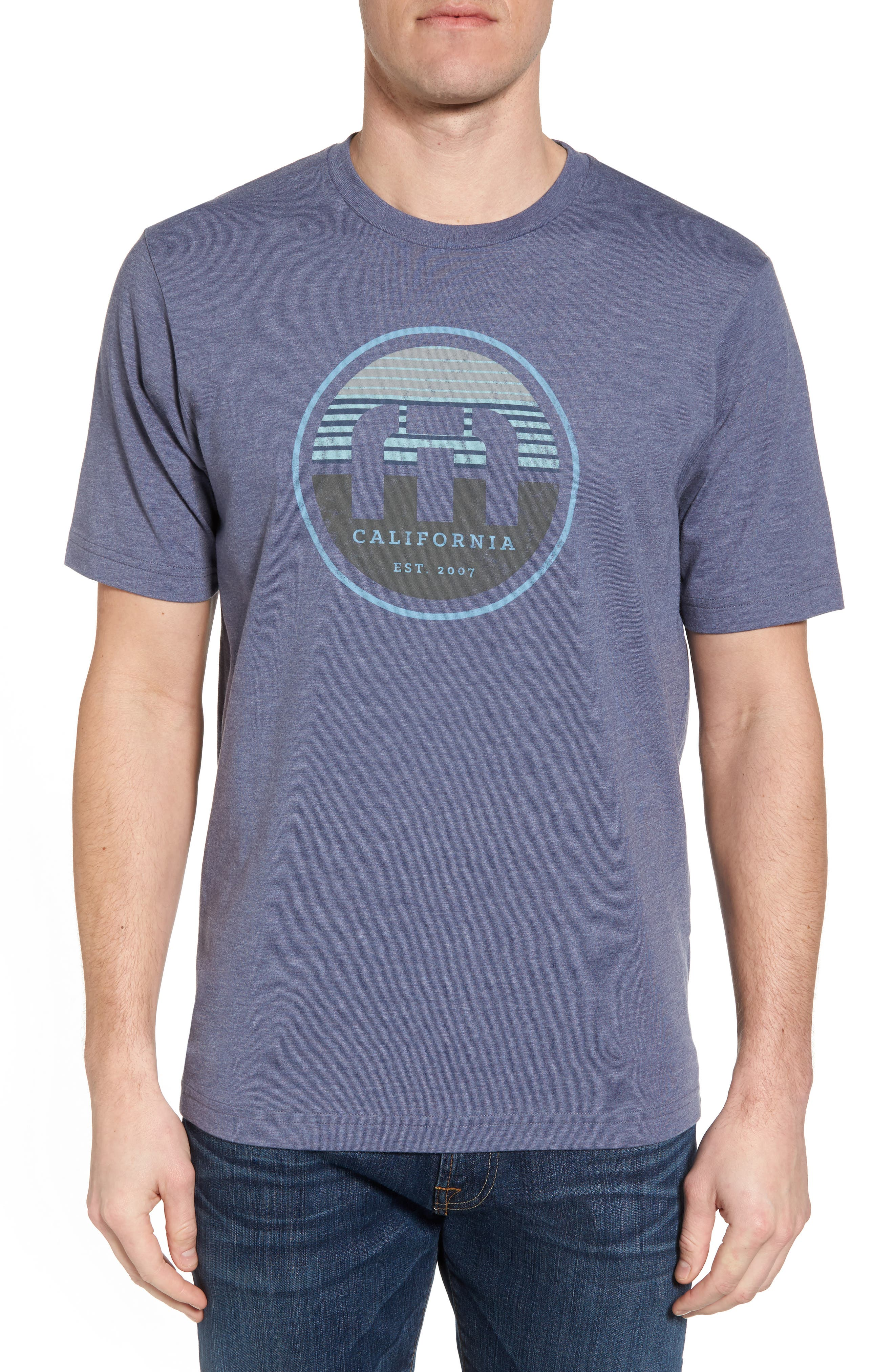 B-Stern Graphic T-Shirt,                         Main,                         color, Heather Blue Nights