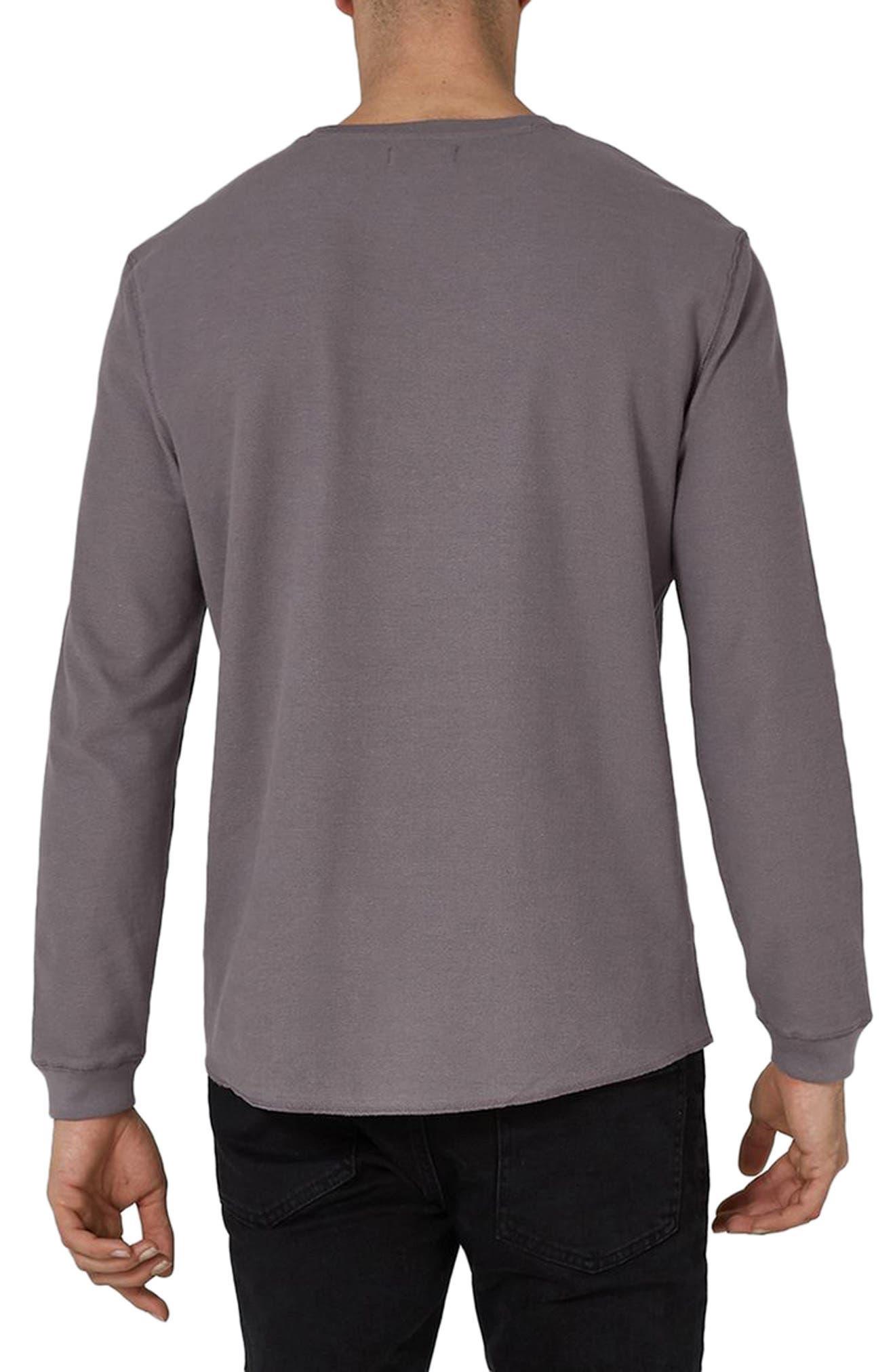 Waffle Knit Long Sleeve T-Shirt,                             Alternate thumbnail 2, color,                             Purple