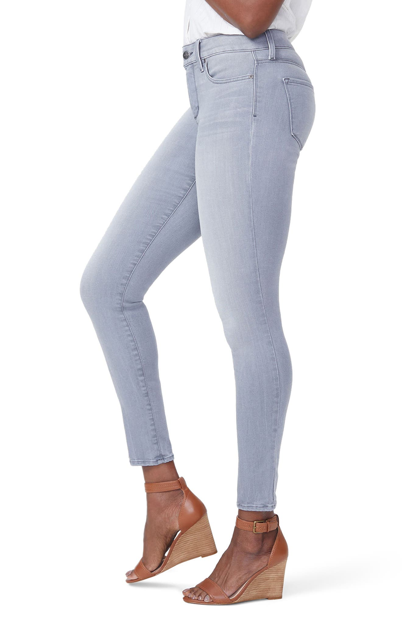 Ami Skinny Jeans,                             Alternate thumbnail 3, color,                             Carbon Beach