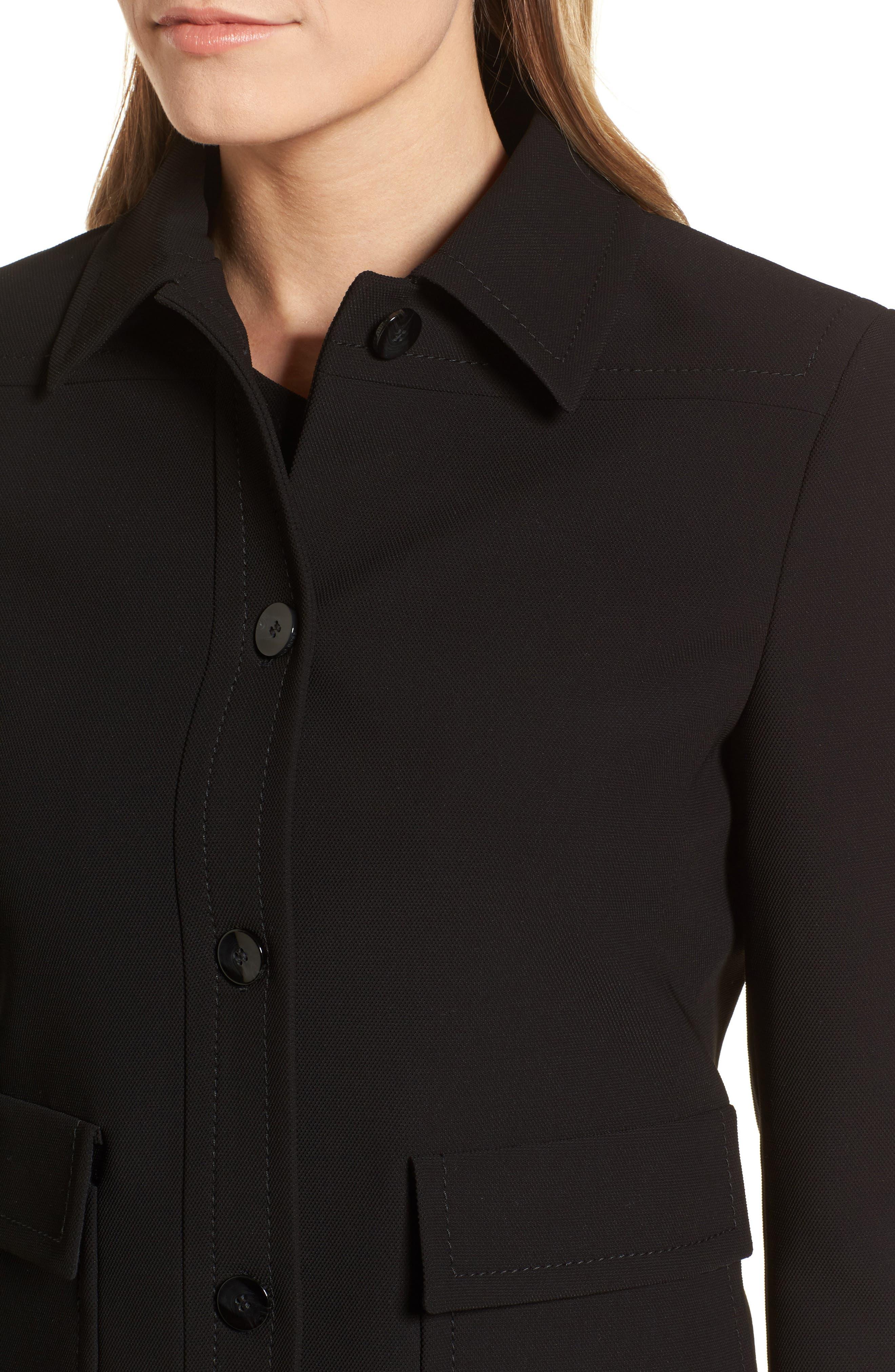 Juriona Crop Jacket,                             Alternate thumbnail 4, color,                             Black