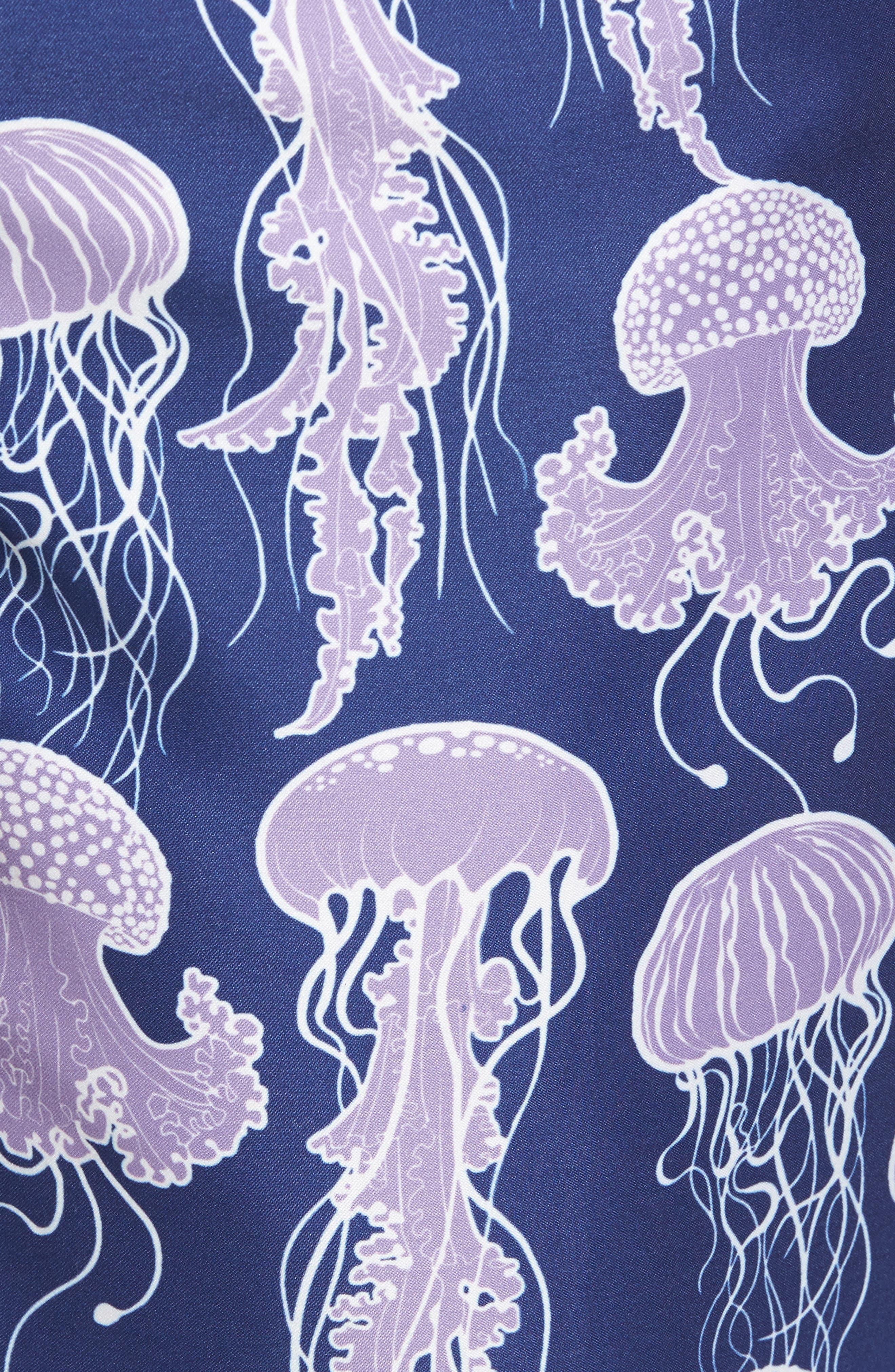 Jelly Fish Swim Trunks,                             Alternate thumbnail 5, color,                             Grape