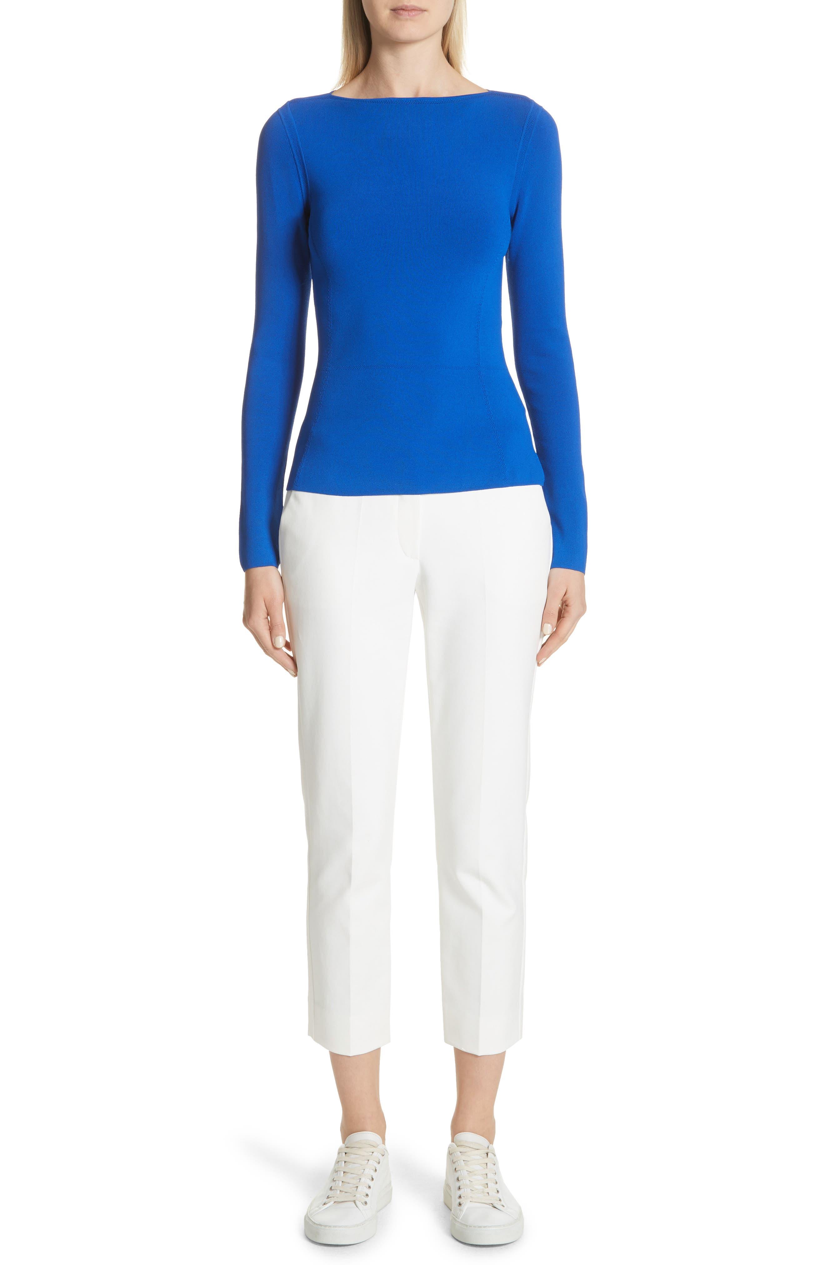 Tech Cotton Blend Pants,                             Alternate thumbnail 7, color,                             Warm White