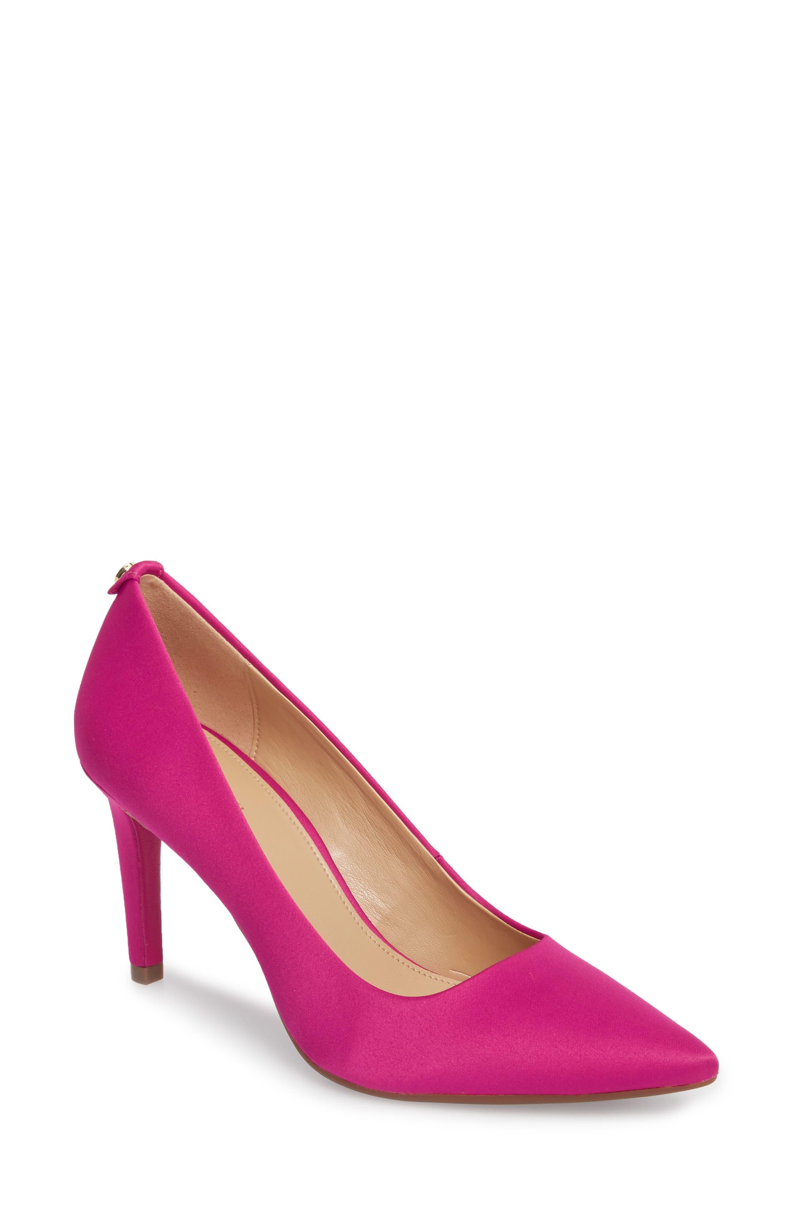 Dorothy Flex Pump,                             Main thumbnail 1, color,                             Ultra Pink Satin