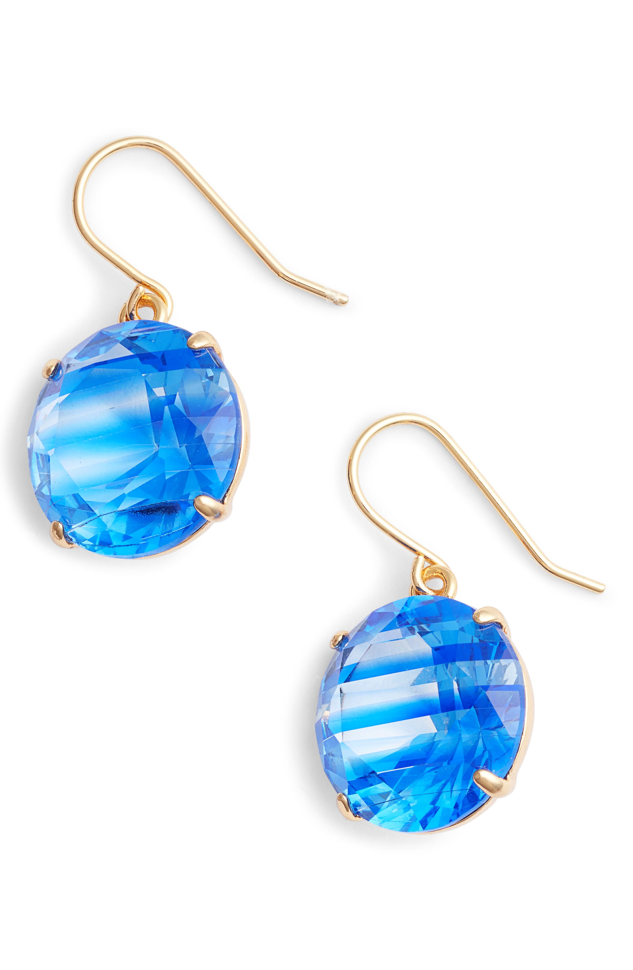 Kate Spade Shine On Stripe Drop Earrings In Sapphire Multi