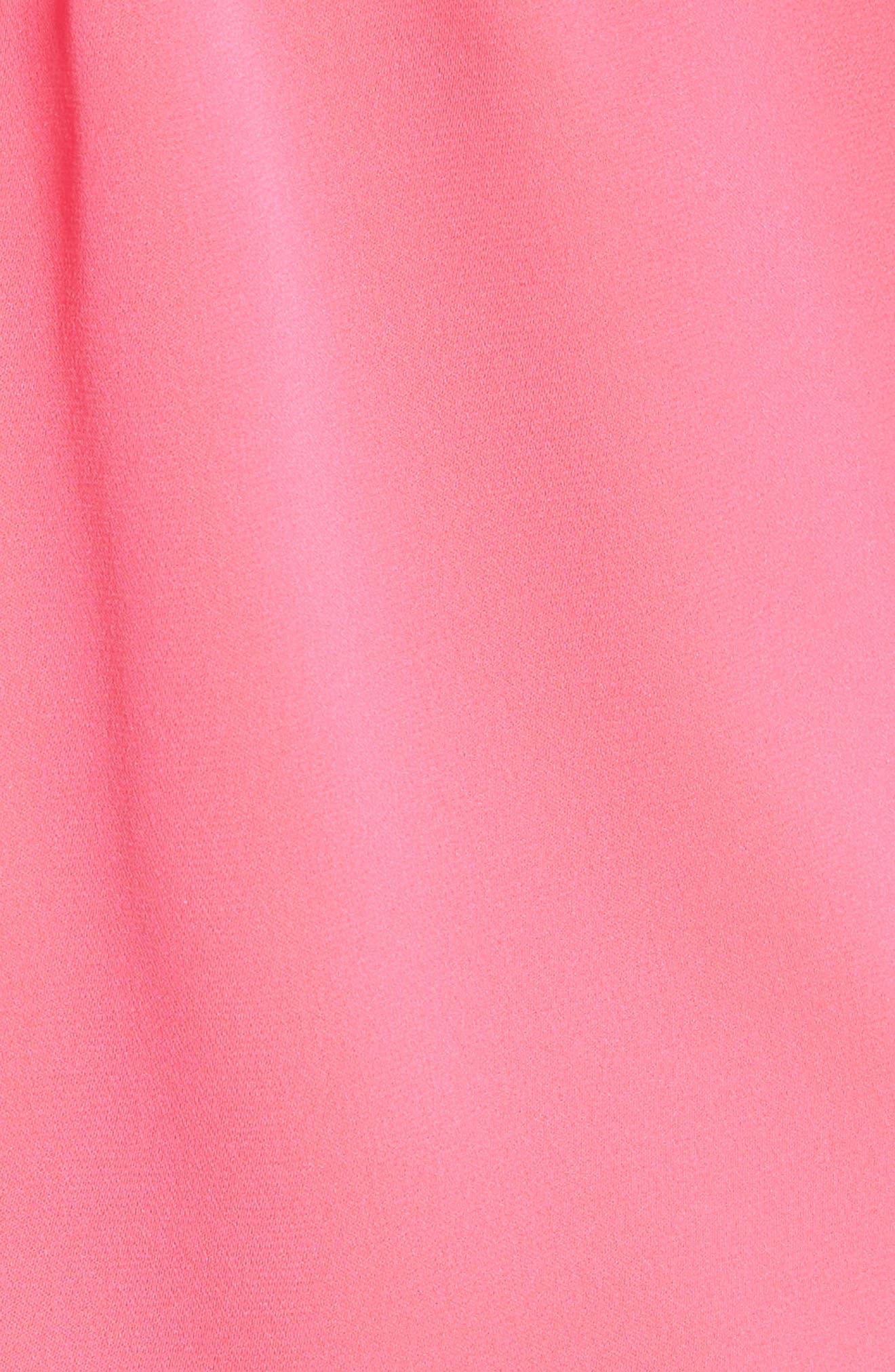Emilia Ruffle Button Down Camisole,                             Alternate thumbnail 5, color,                             Guava