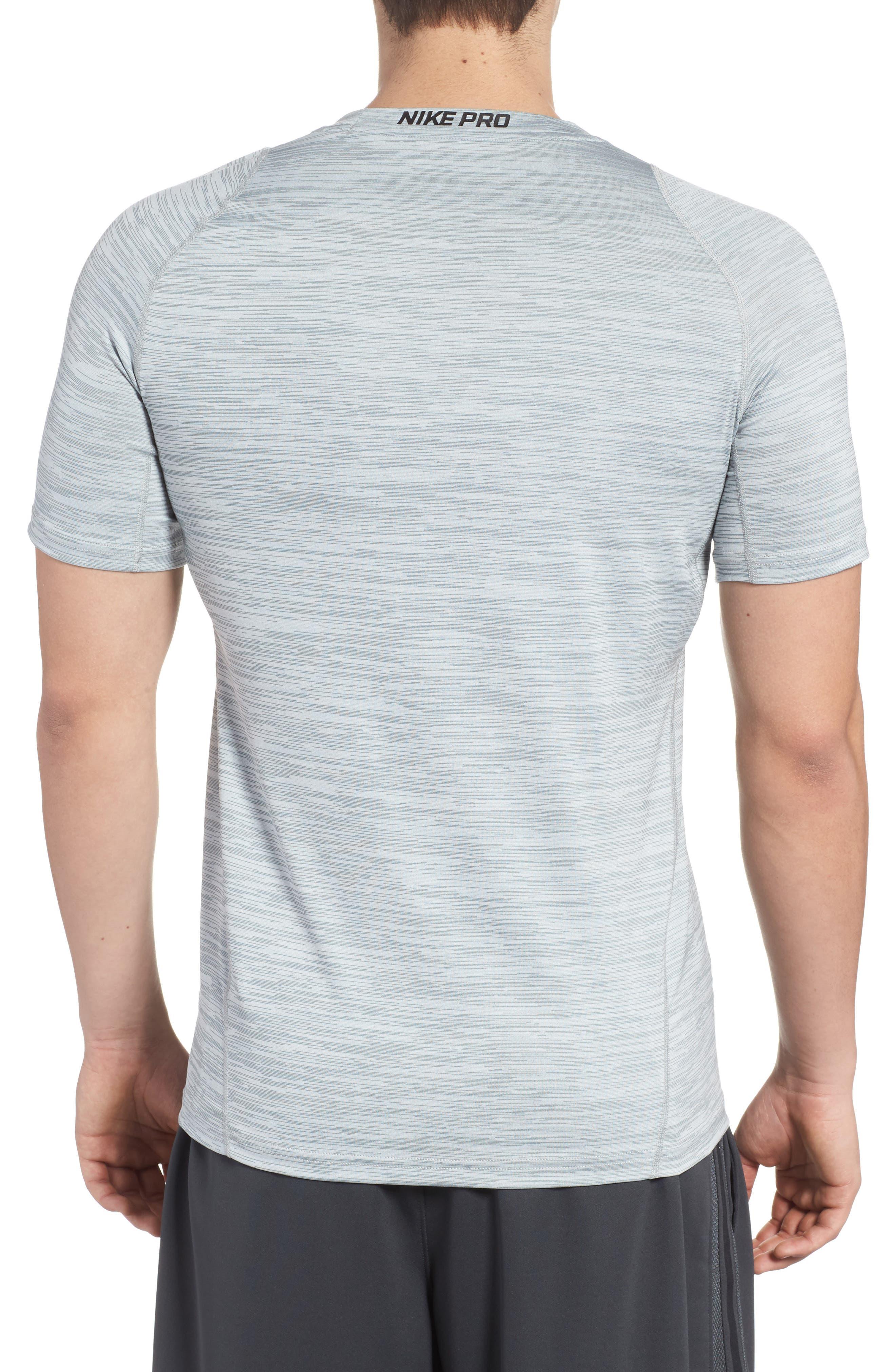 Training Top Crewneck T-Shirt,                             Alternate thumbnail 2, color,                             Cool Grey/ White/ Black