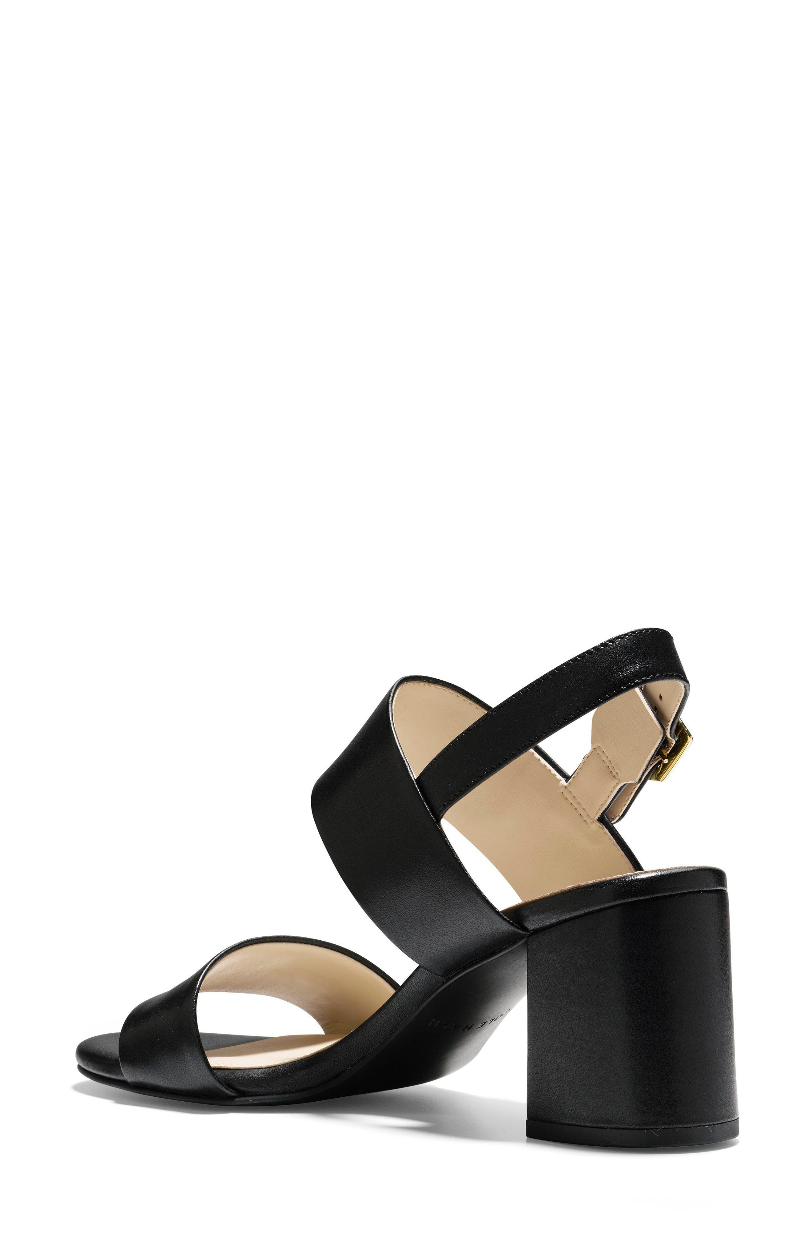 Avani Block Heel Sandal,                             Alternate thumbnail 2, color,                             Black Leather