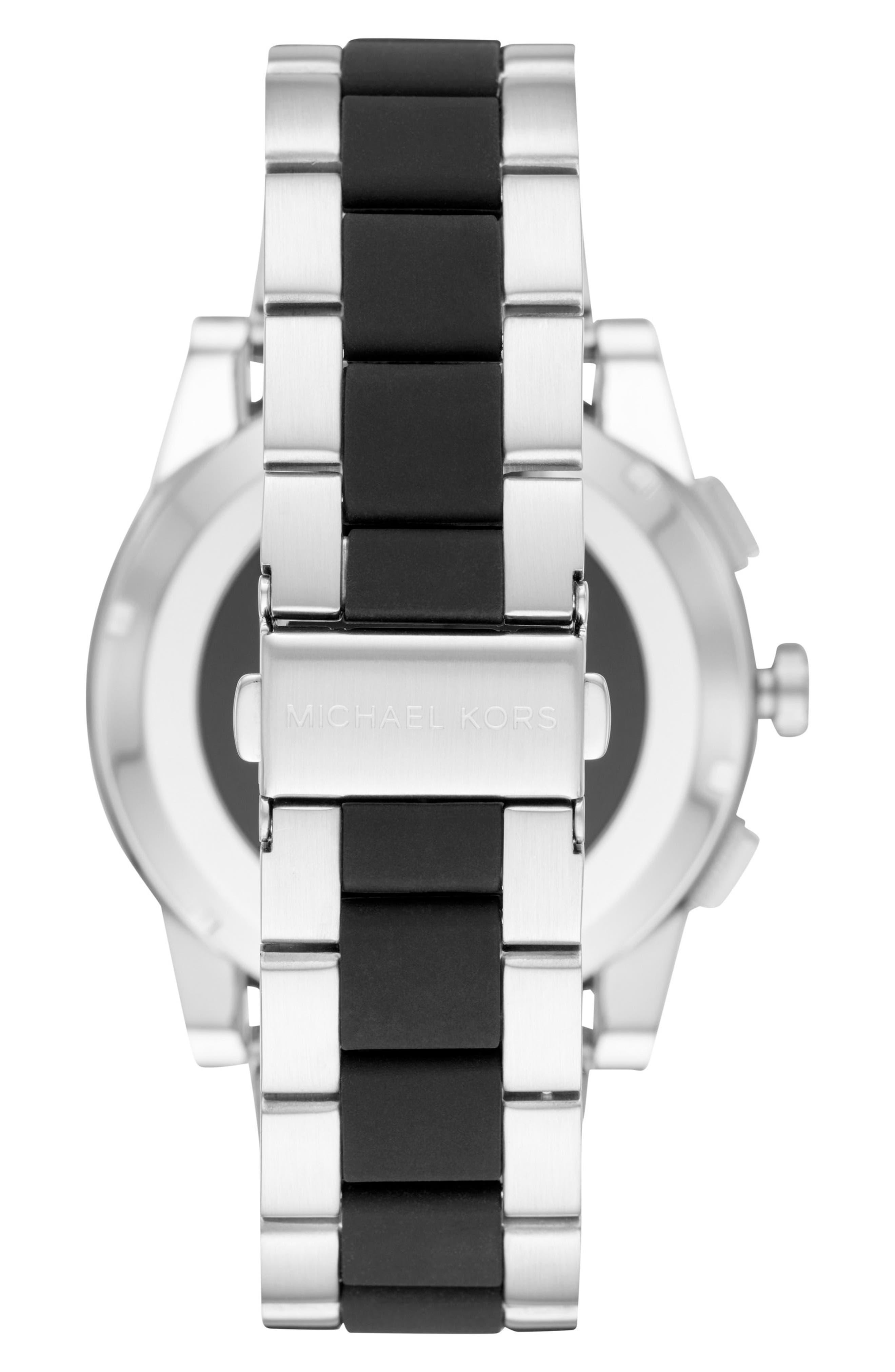 Grayson Bracelet Touchscreen Smart Watch, 47mm,                             Alternate thumbnail 3, color,                             Silver/ Black