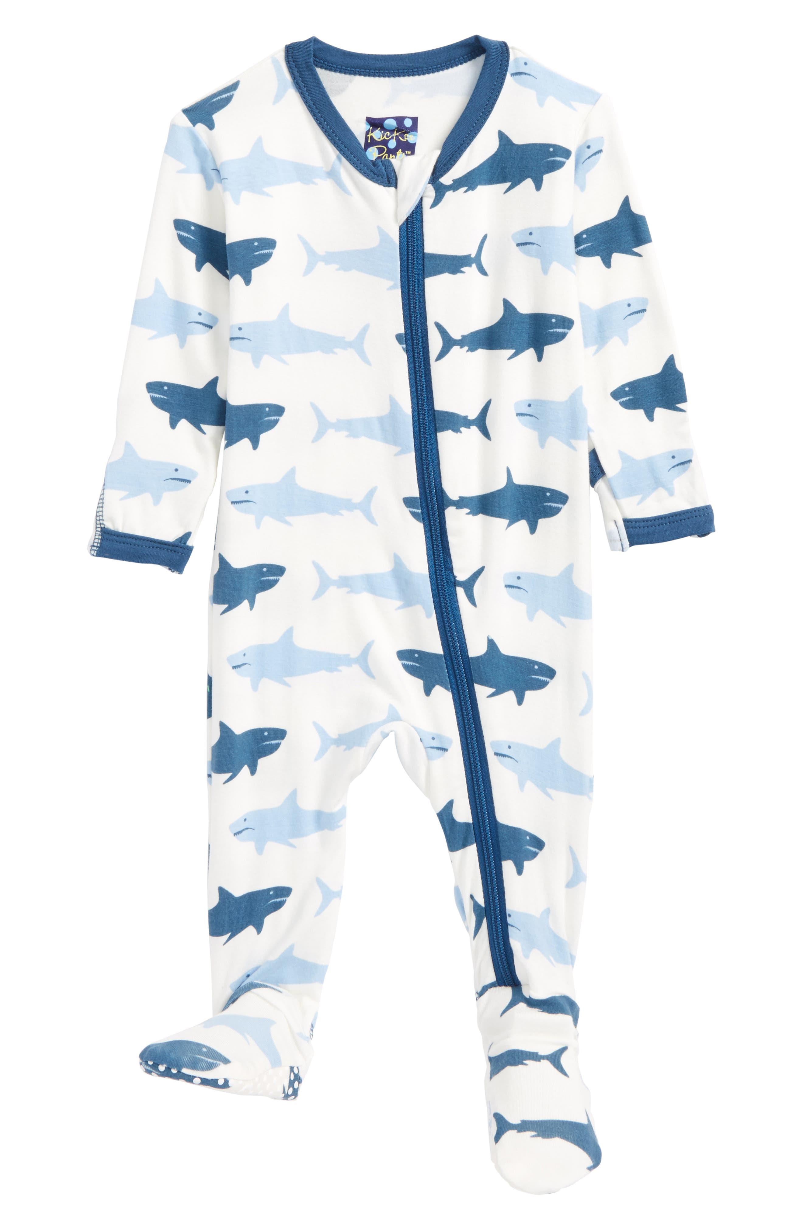 Alternate Image 1 Selected - Kickee Pants Print Footie (Baby Boys)