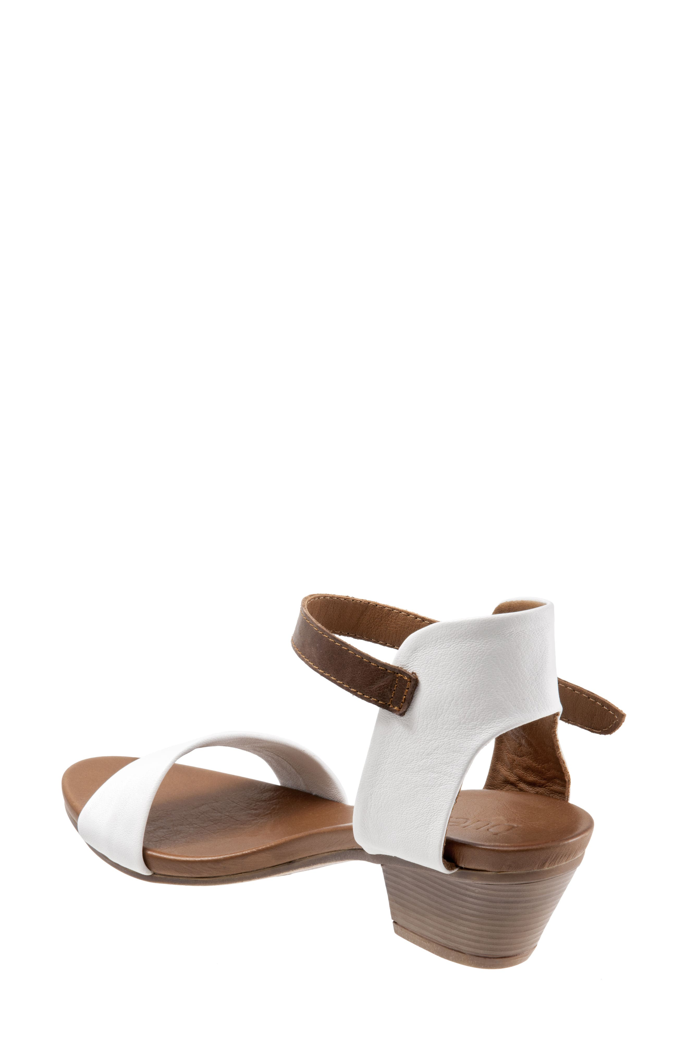 Sue Sandal,                             Alternate thumbnail 2, color,                             White Leather