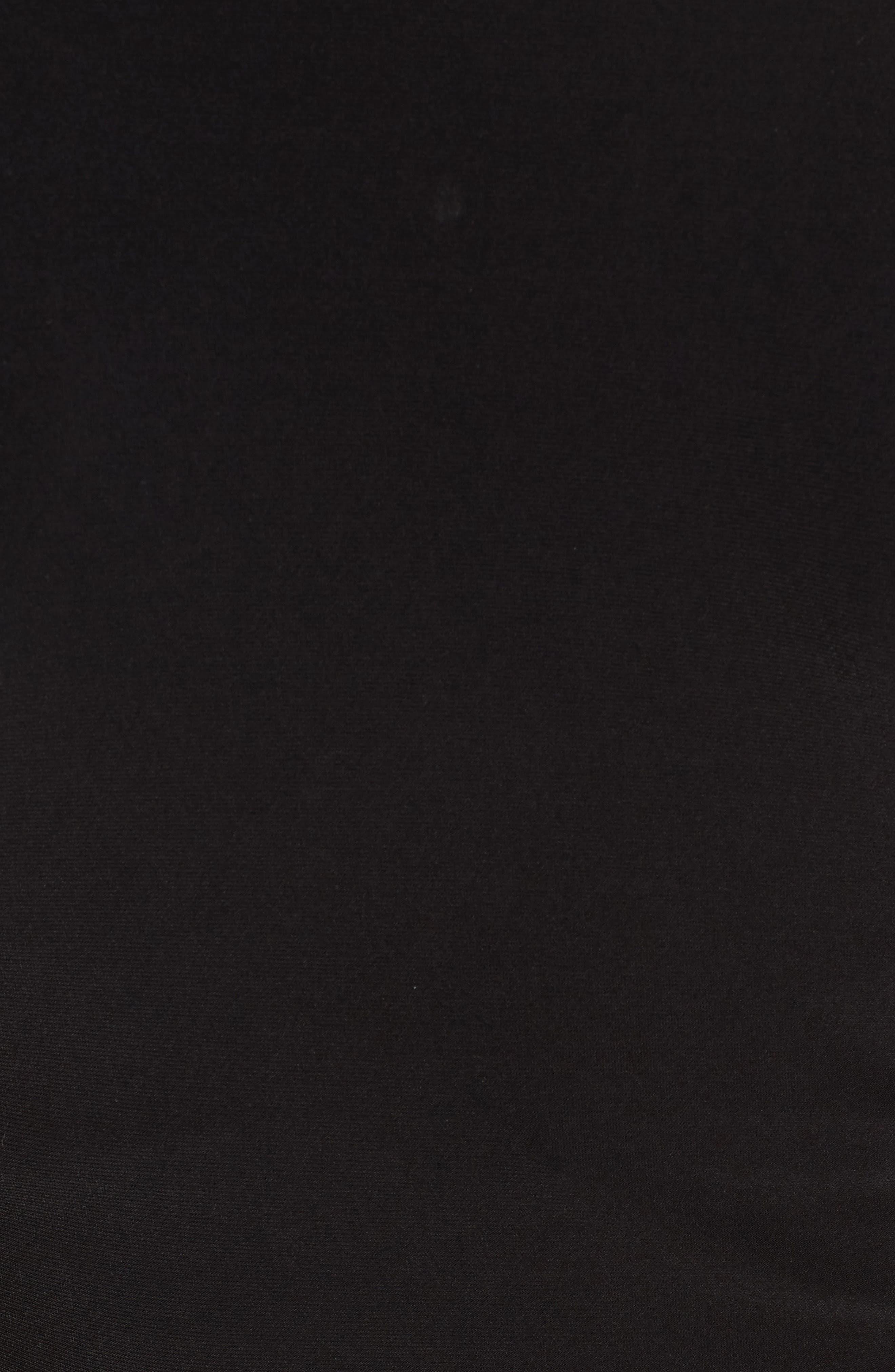 Ruched Crewneck Tee,                             Alternate thumbnail 5, color,                             Black