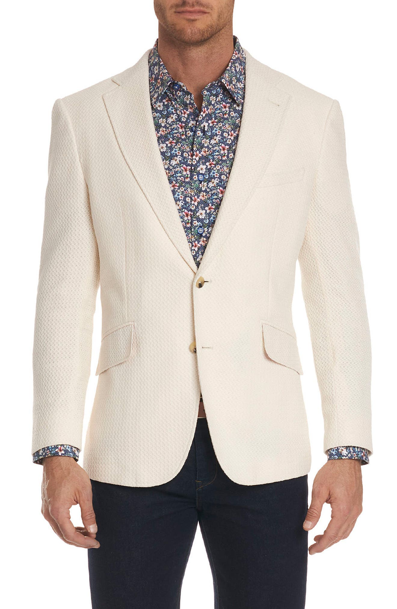 Lauros Woven Sport Coat,                         Main,                         color, Ivory