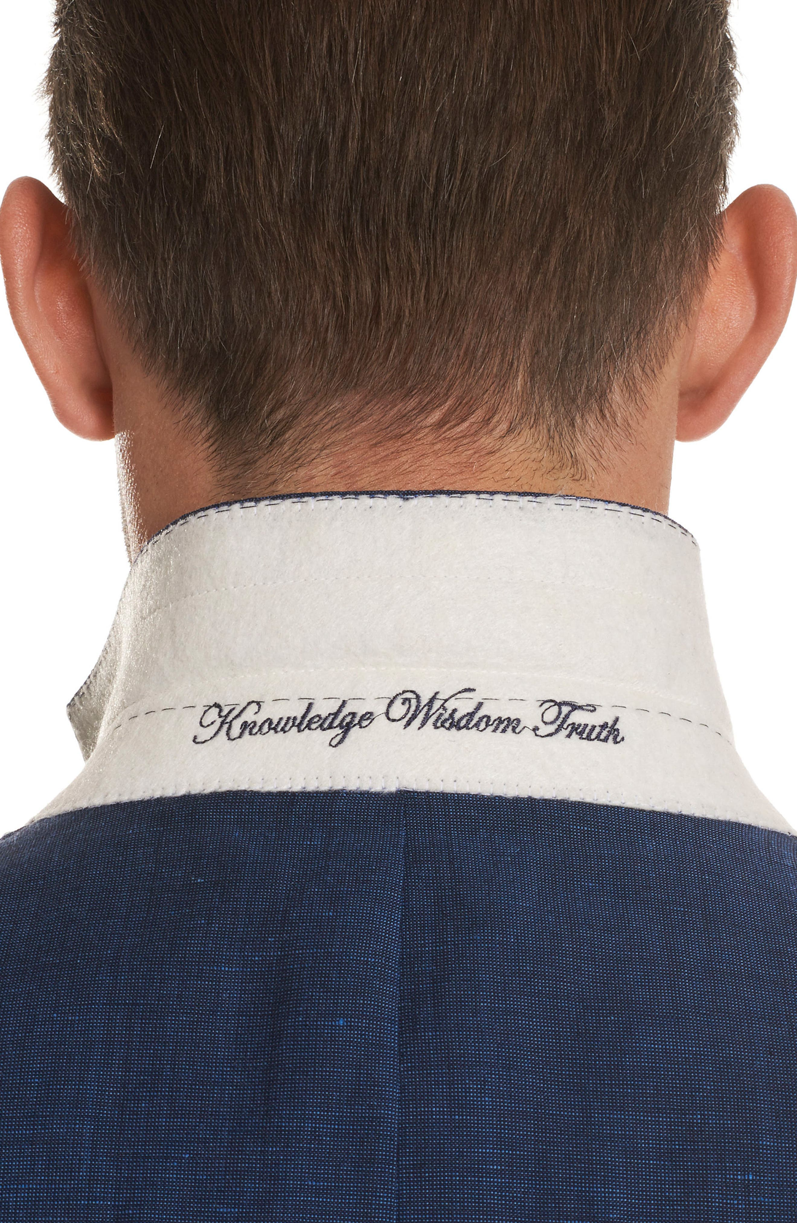 Alternate Image 4  - Robert Graham Vidin Tailored Fit Linen & Wool Sportcoat