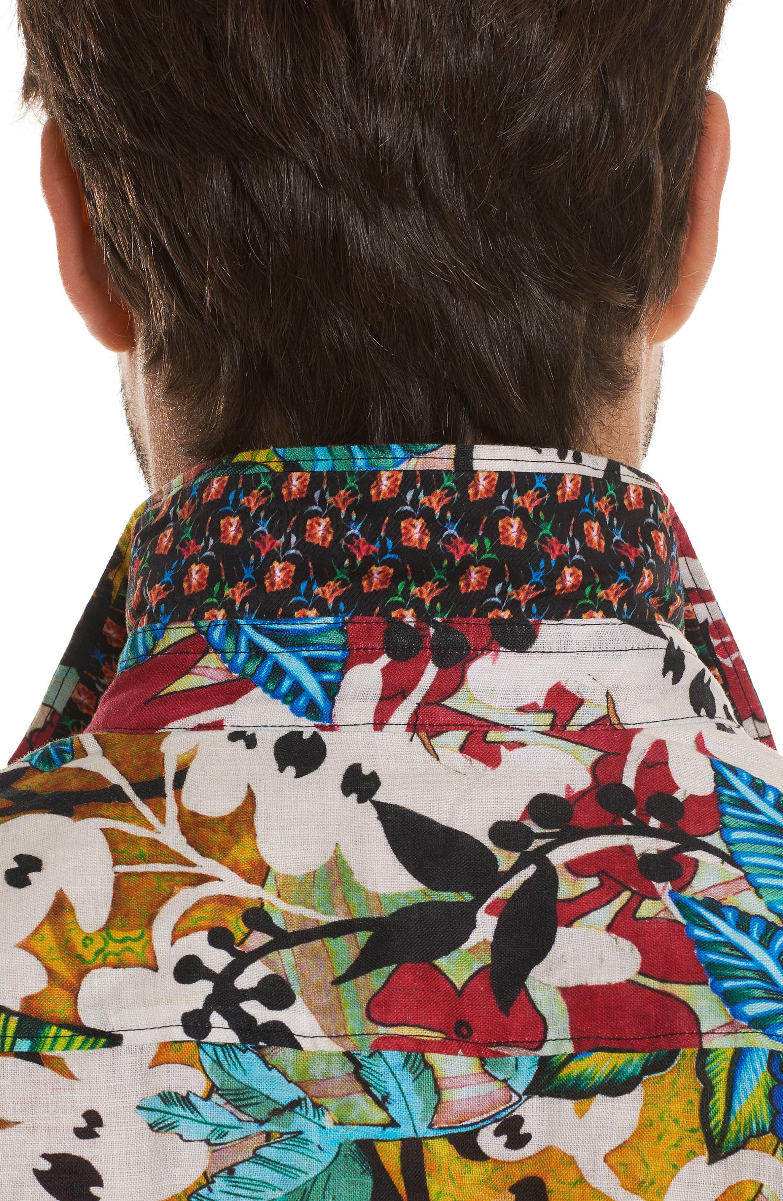 Havana Linen Sport Shirt,                             Alternate thumbnail 5, color,                             Multi