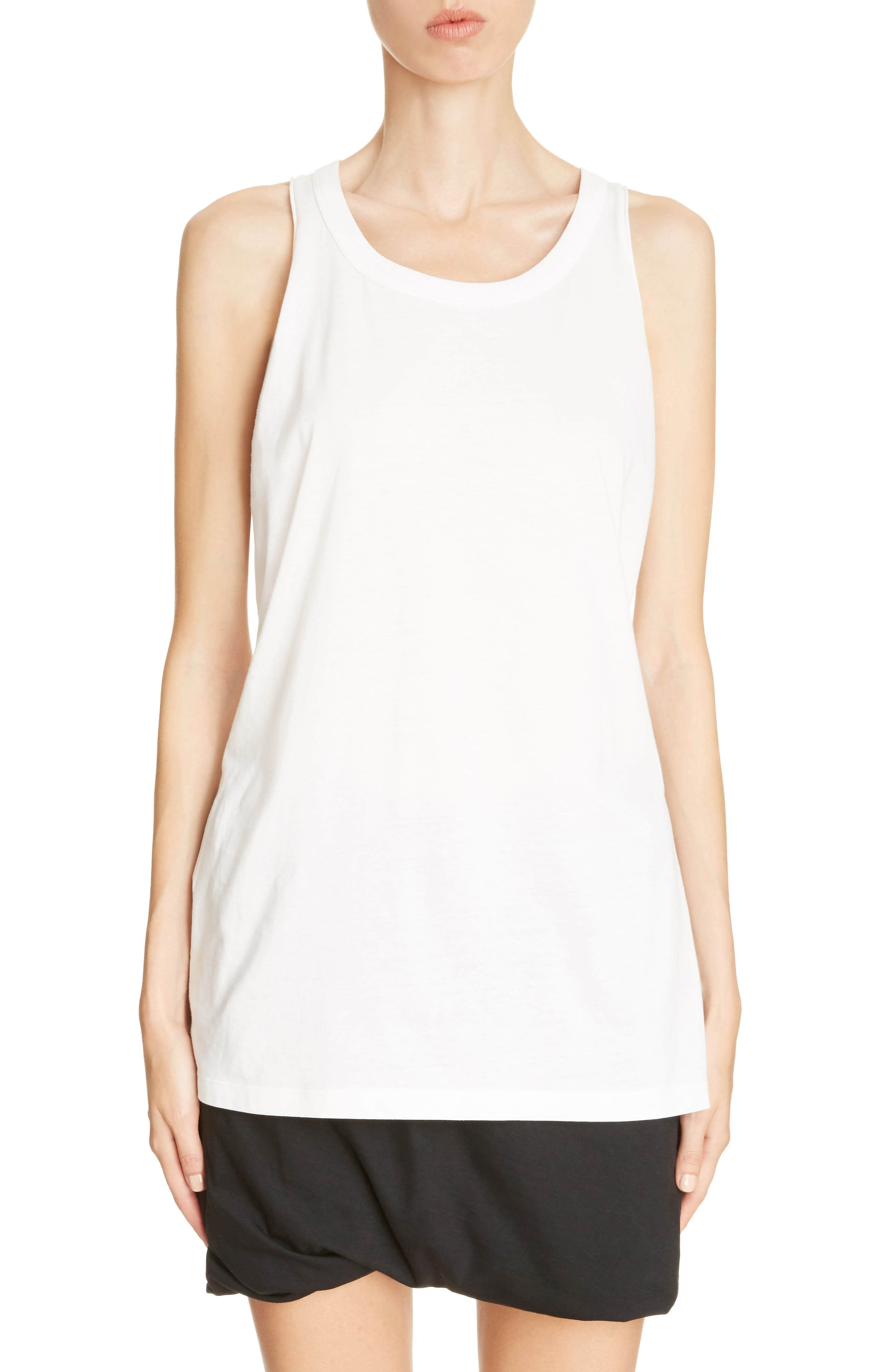 Jersey Tank Top,                         Main,                         color, Chalk White