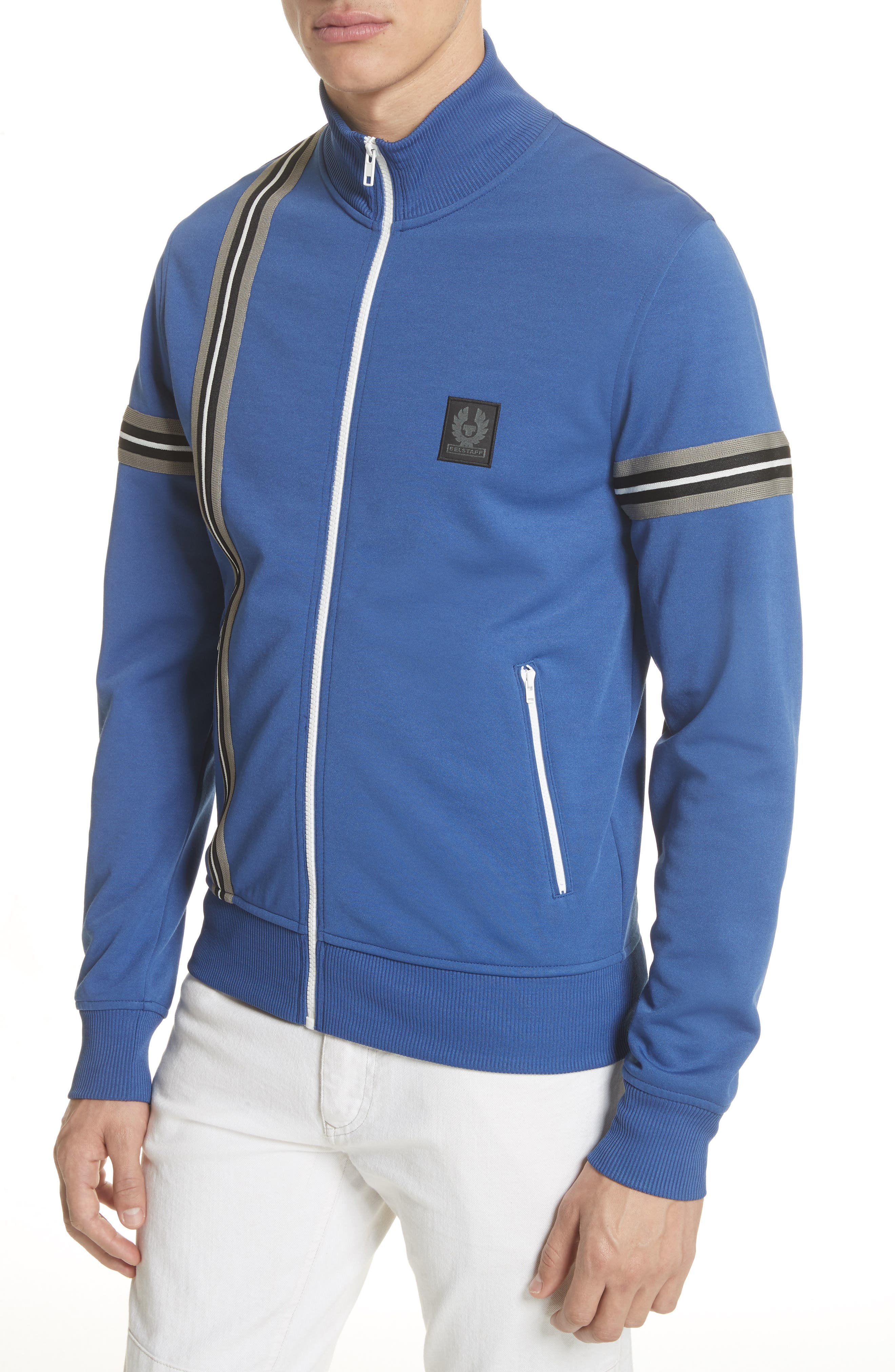 Helmsdale Track Jacket,                             Alternate thumbnail 4, color,                             Deep Electric Blue
