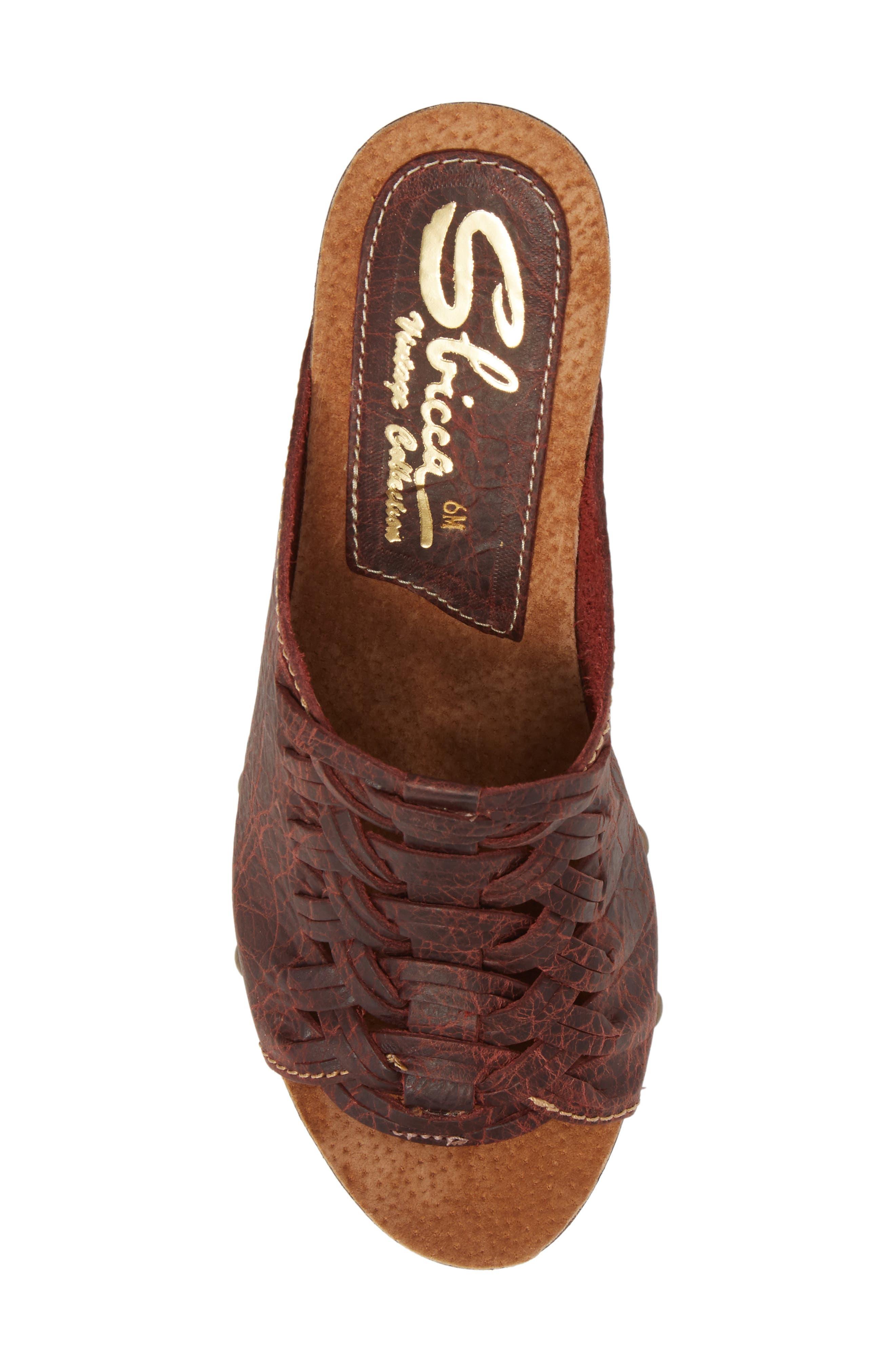 Genesis Platform Wedge Sandal,                             Alternate thumbnail 5, color,                             Wine