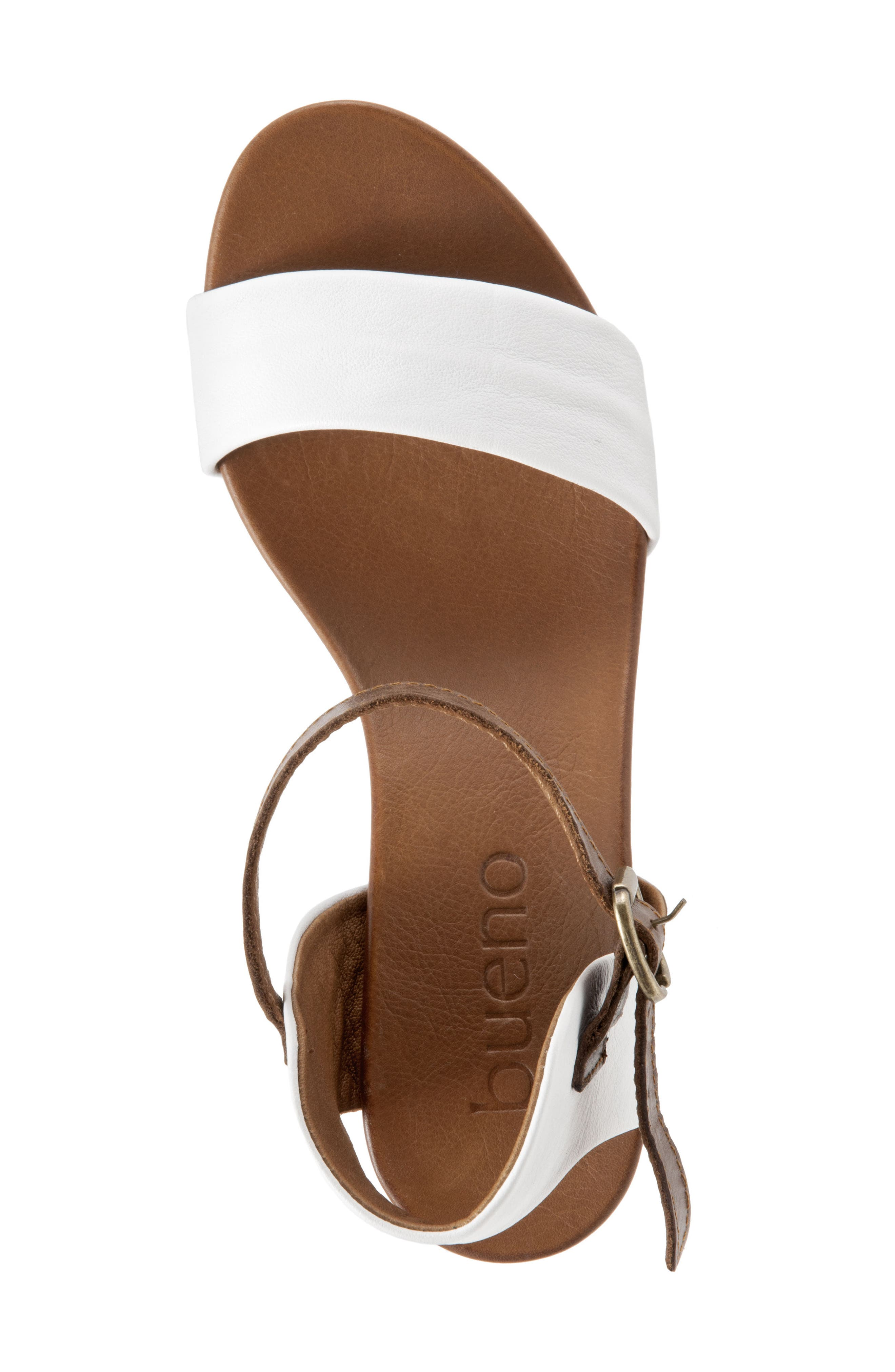 Sue Sandal,                             Alternate thumbnail 7, color,                             White Leather