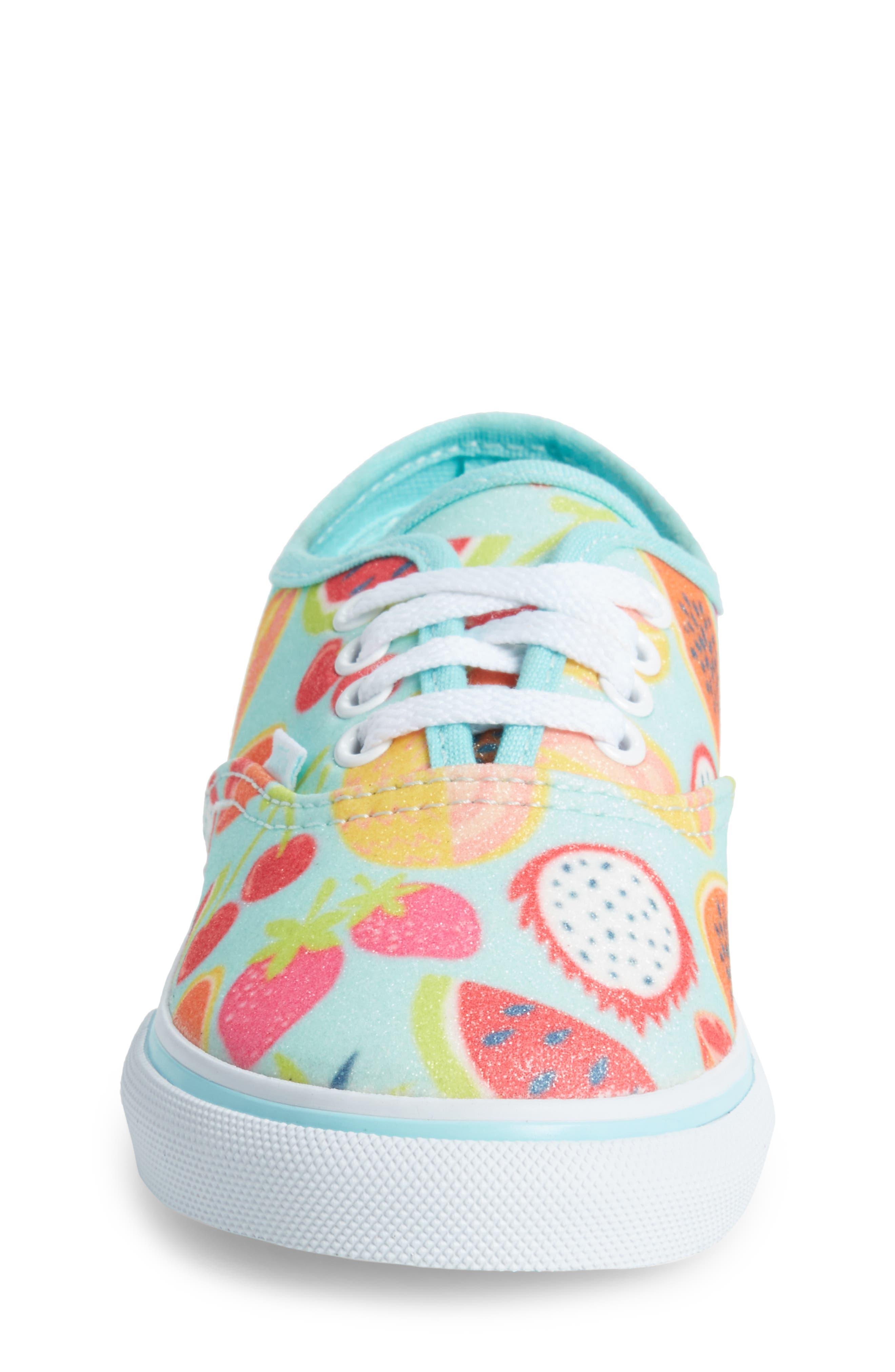 Authentic Glitter Fruits Sneaker,                             Alternate thumbnail 4, color,                             Island Paradise/ Glitter Fruit