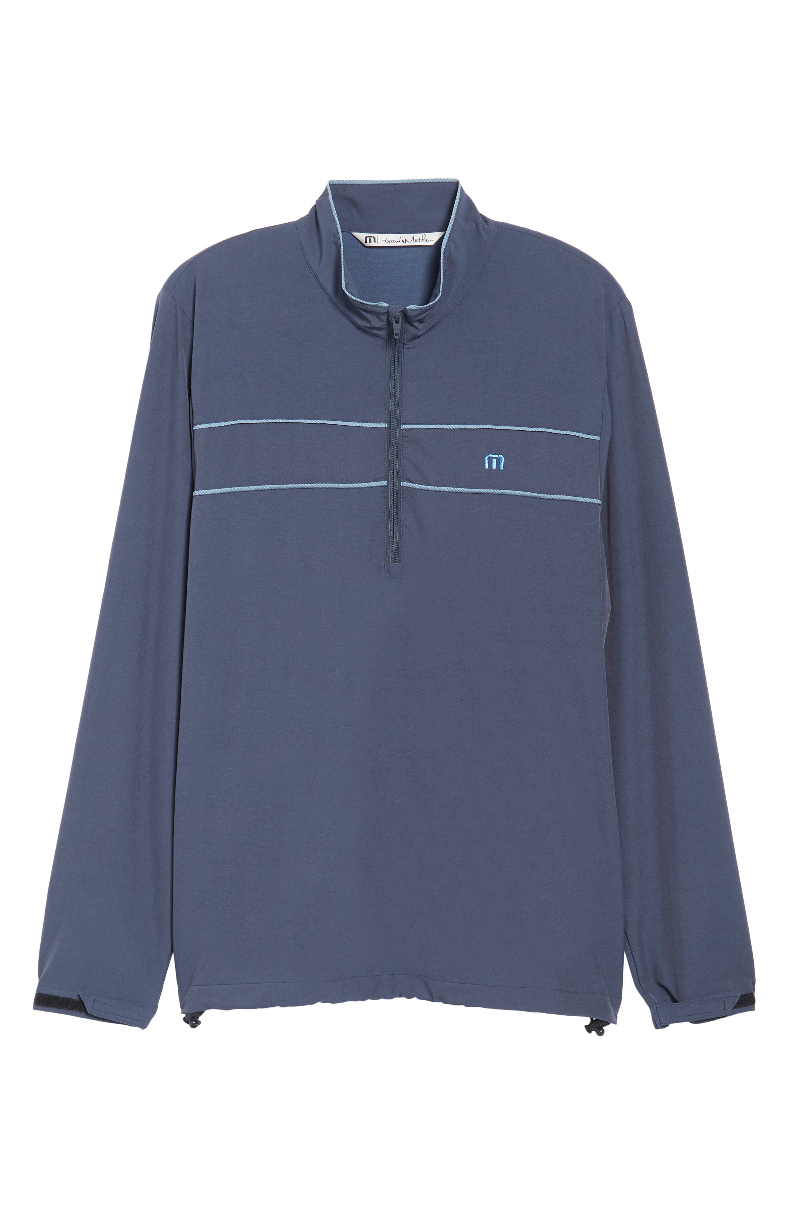 Leon Half Zip Pullover,                             Alternate thumbnail 6, color,                             Blue Nights/ French Blue