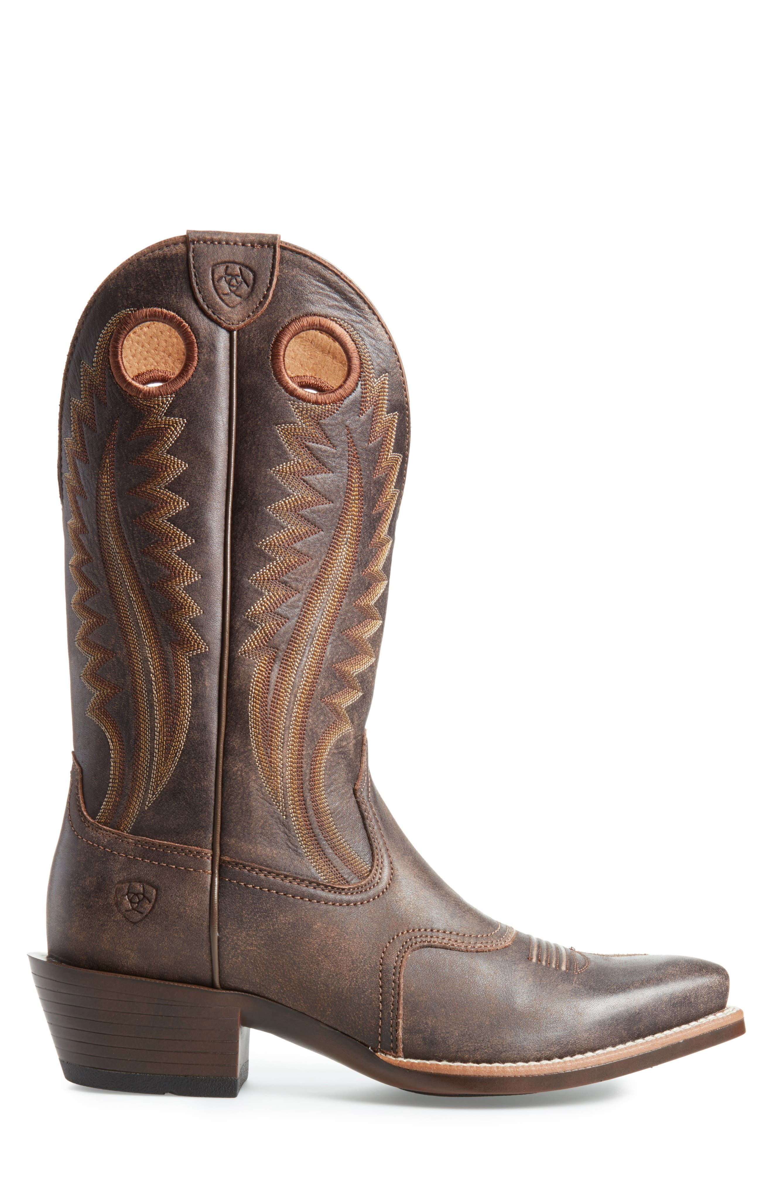 High Desert Cowboy Boot,                             Alternate thumbnail 3, color,                             Tack Chocolate Leather