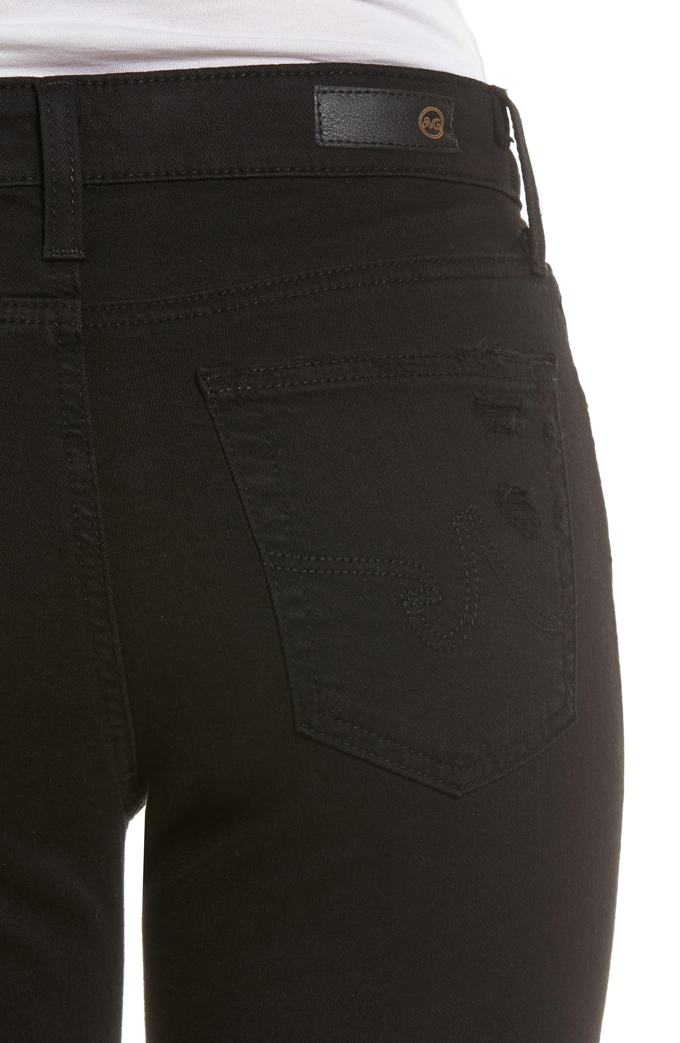 Alternate Image 4  - AG The Farrah High Waist Ankle Skinny Faux Leather Pants