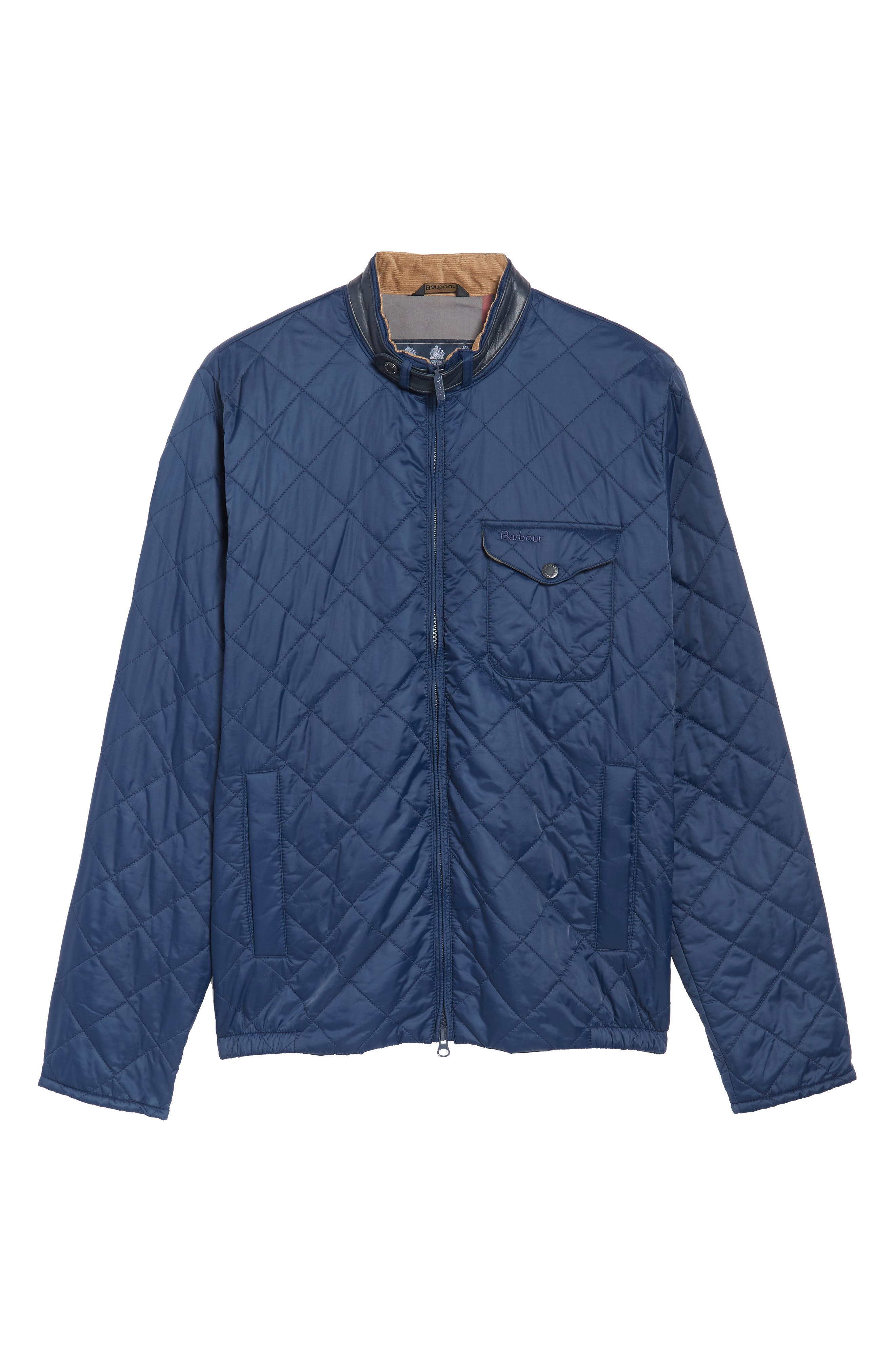 Ard Quilted Jacket,                             Alternate thumbnail 6, color,                             Royal Navy