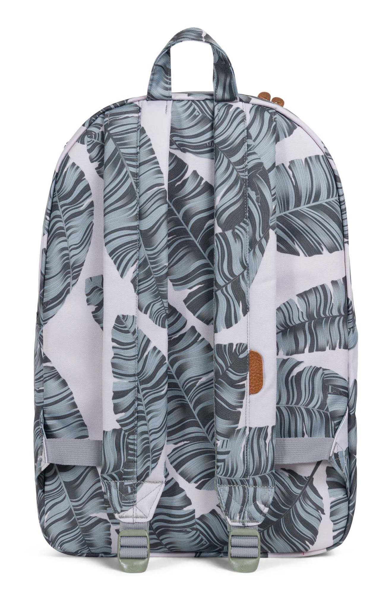 Heritage Backpack,                             Alternate thumbnail 2, color,                             Silver Birch Palm/ Tan