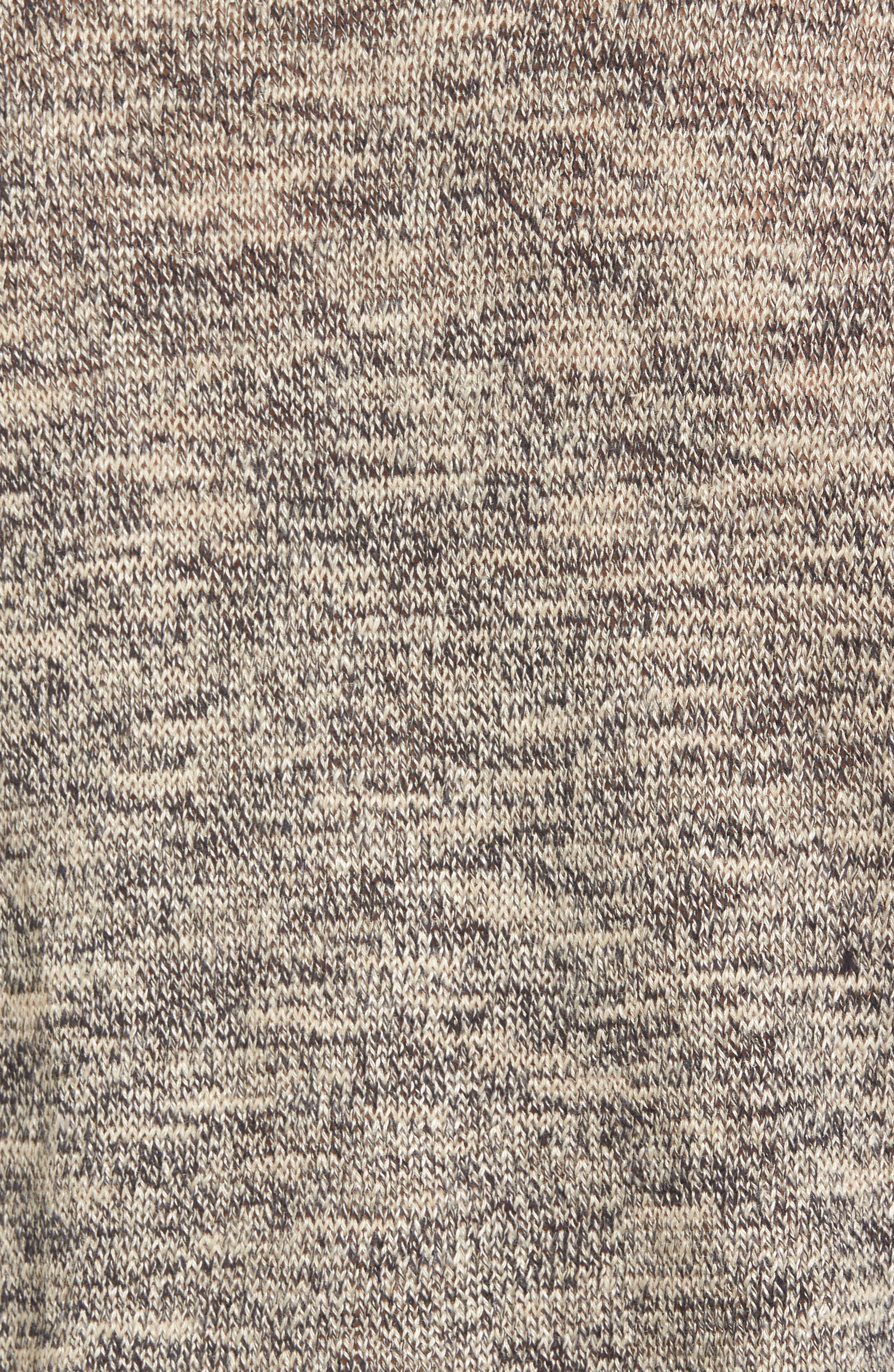 Flora Sweater,                             Alternate thumbnail 5, color,                             Speckled Navy/ Beige