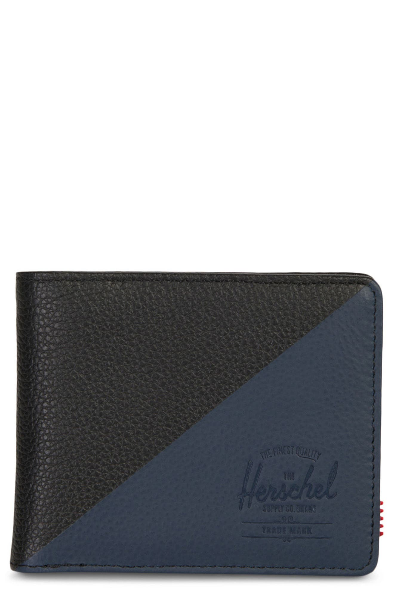 Hank Leather Wallet,                         Main,                         color, Black