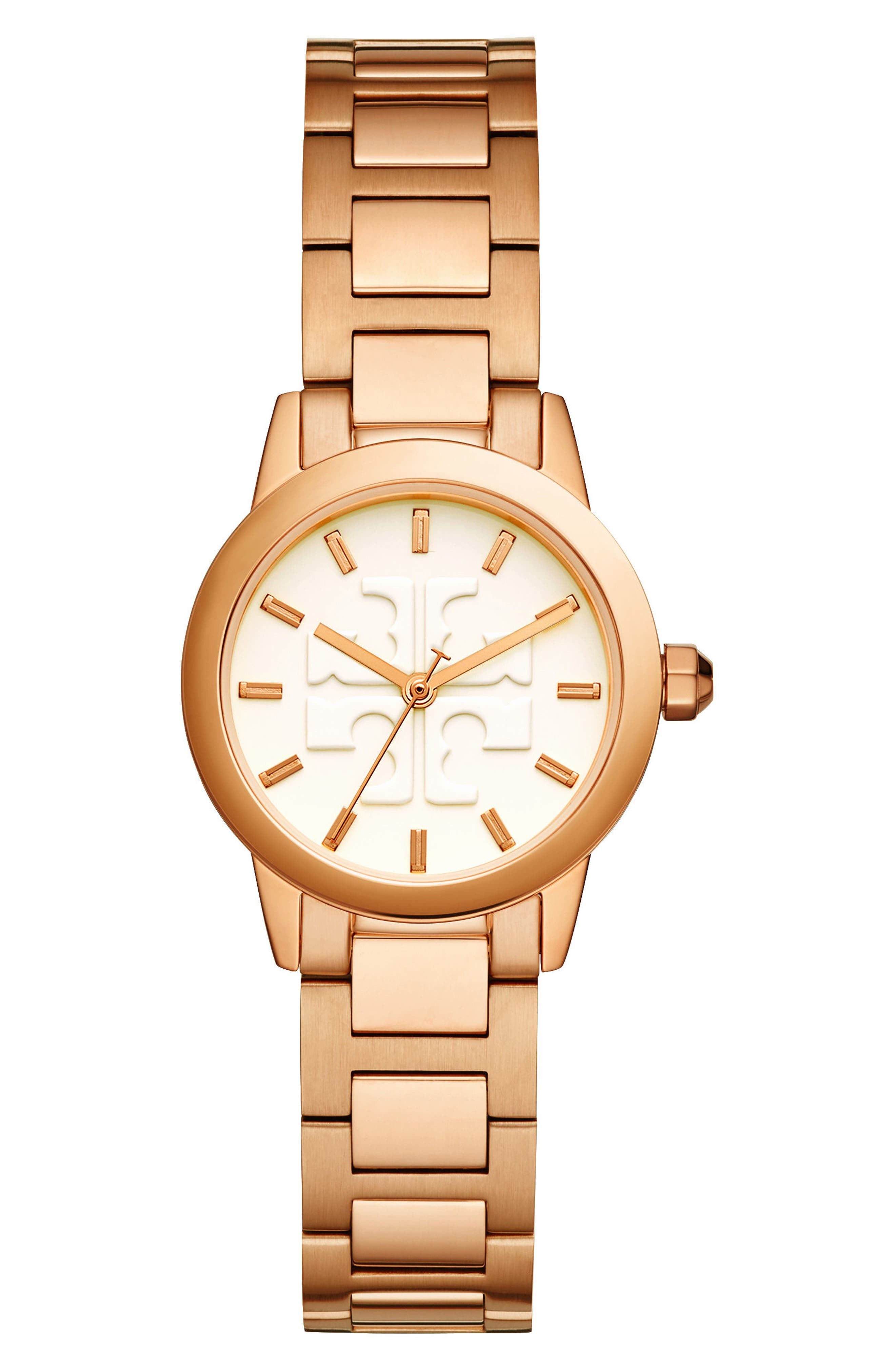 Gigi Bracelet Watch, 28mm,                             Main thumbnail 1, color,                             Rose Gold/ Cream/ Rose Gold
