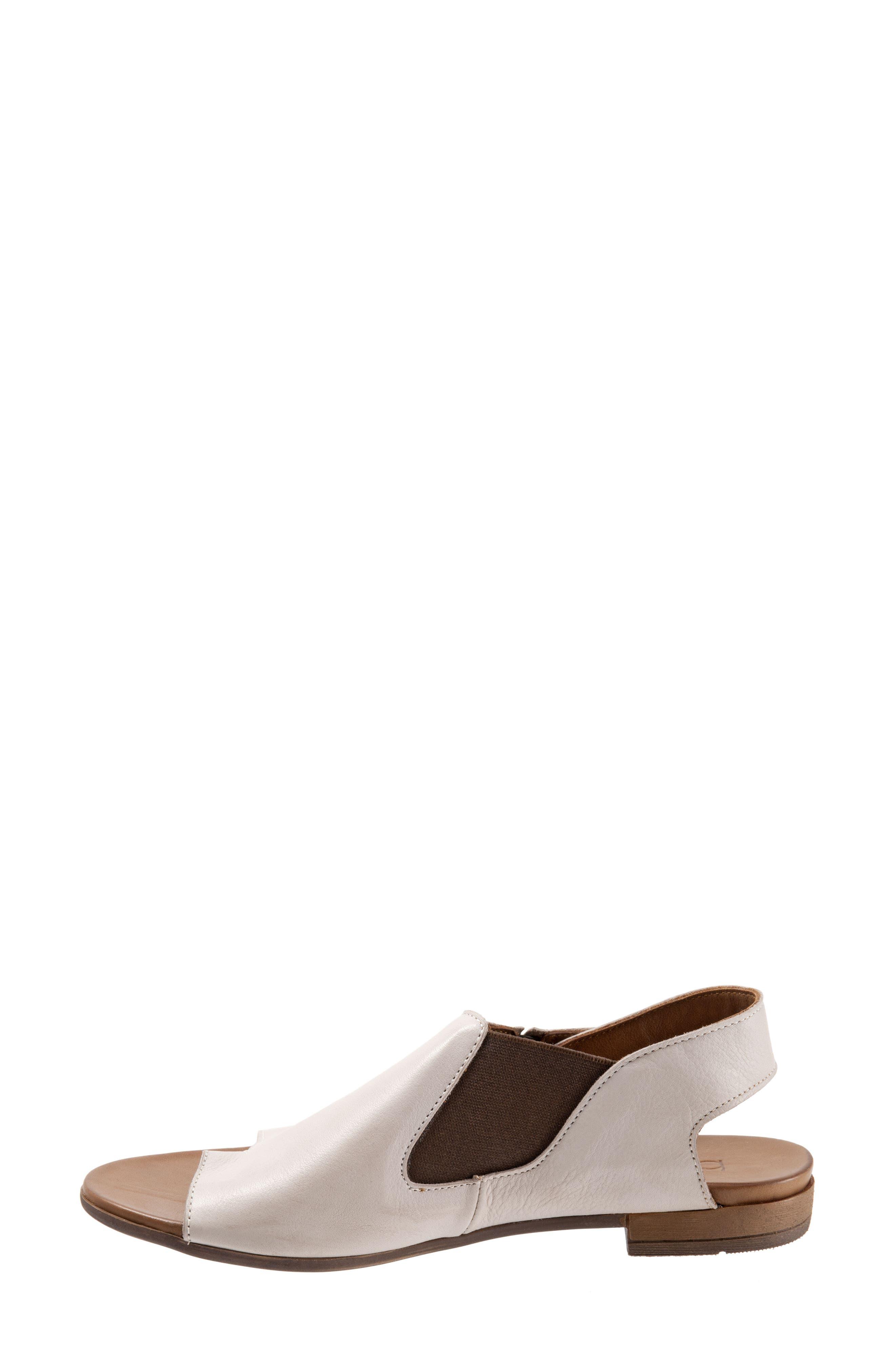 Tessa Sandal,                             Alternate thumbnail 4, color,                             Light Grey Leather