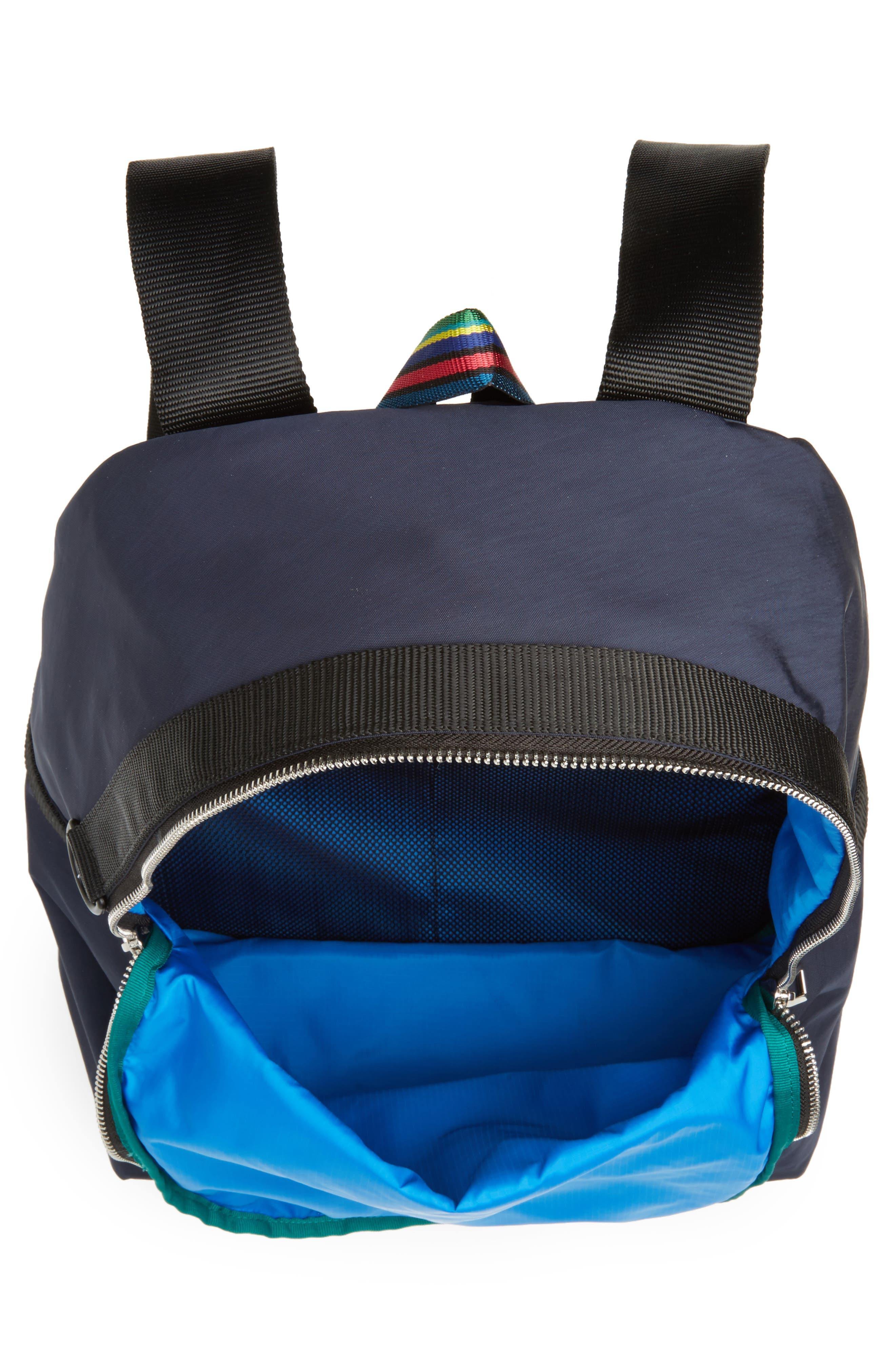 Nylon Backpack,                             Alternate thumbnail 4, color,                             Navy