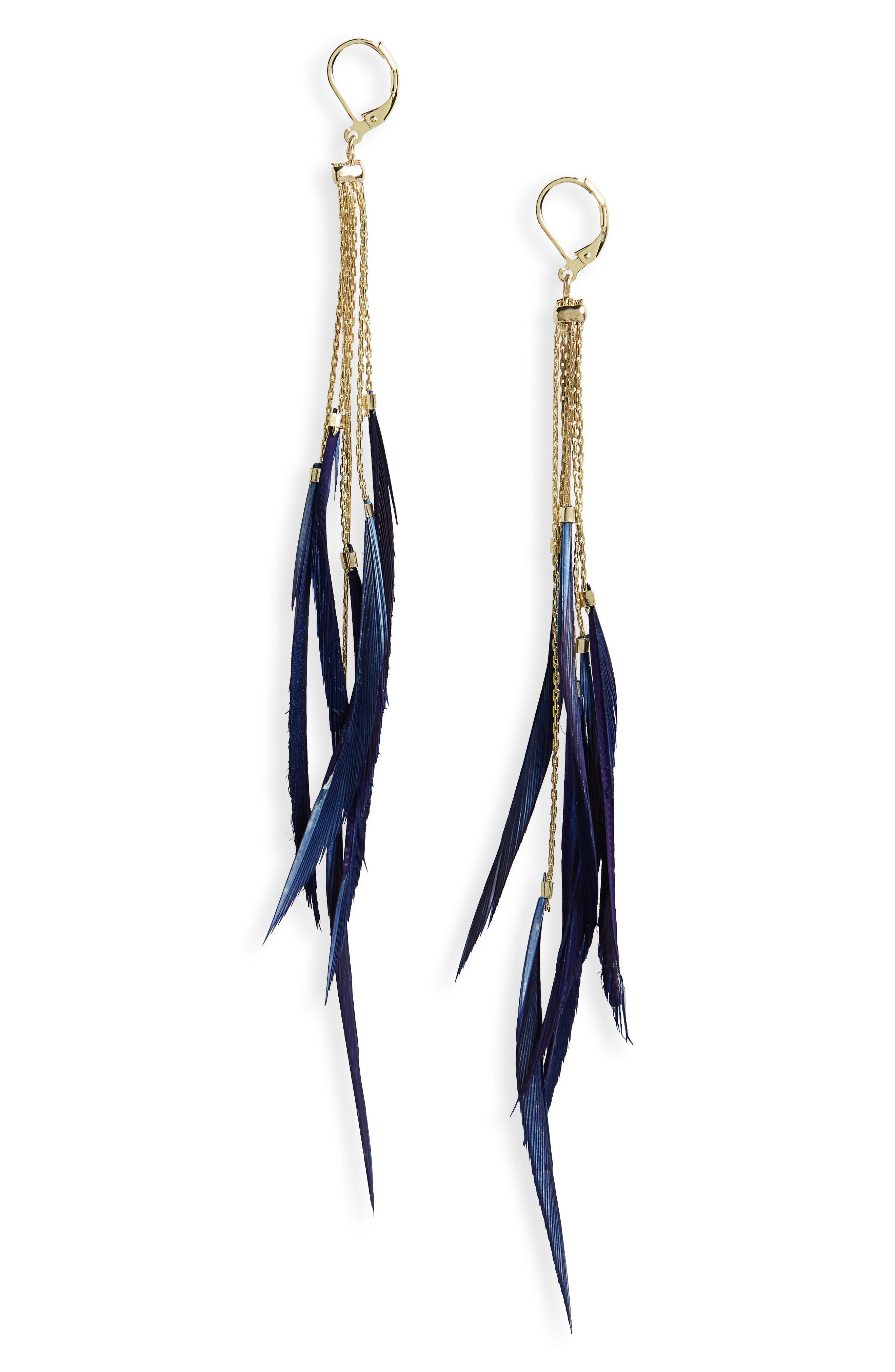 Rachel Duster Earrings,                         Main,                         color, Navy