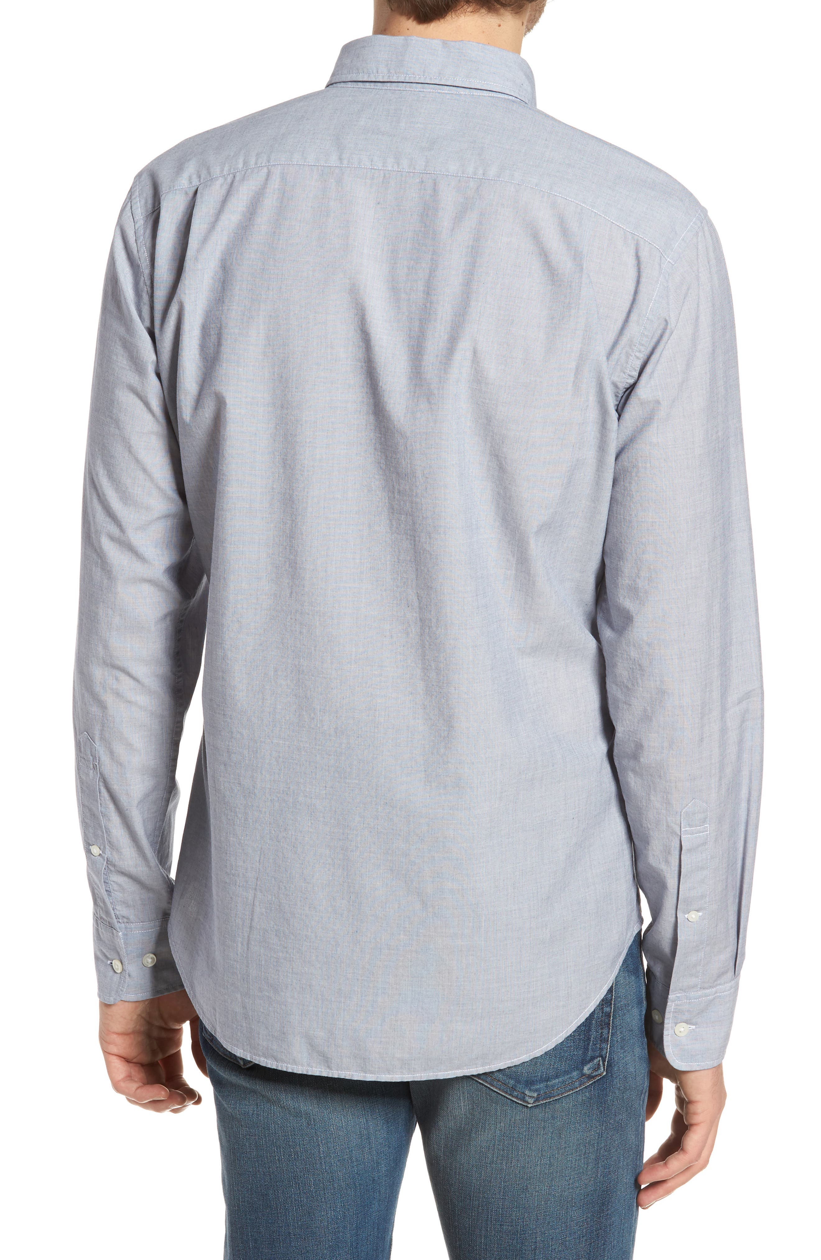 Summerweight Slim Fit Sport Shirt,                             Alternate thumbnail 2, color,                             End On End Solid - Blue Depths