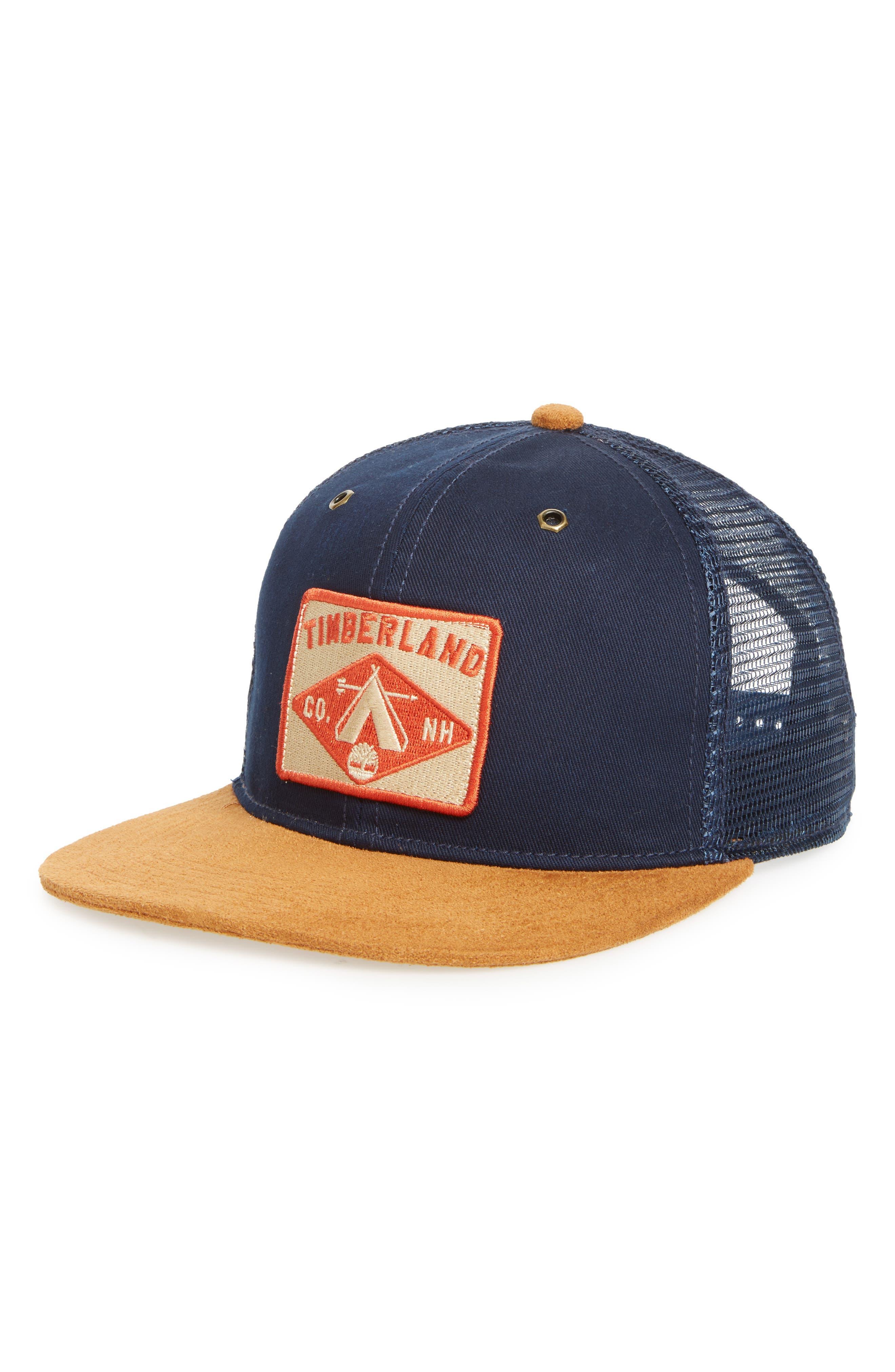Jackson Falls Trucker Hat,                             Main thumbnail 1, color,                             Maritime Blue