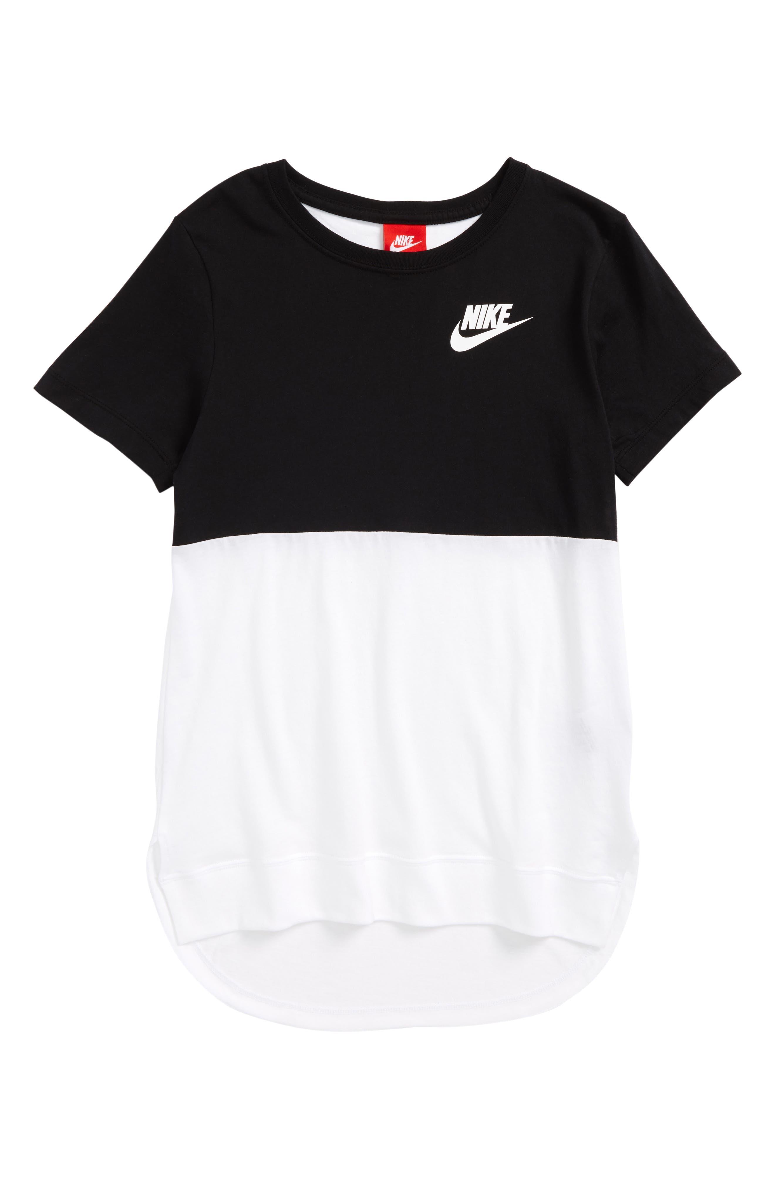 Alternate Image 1 Selected - Nike Sportswear Graphic Tee (Big Girls)