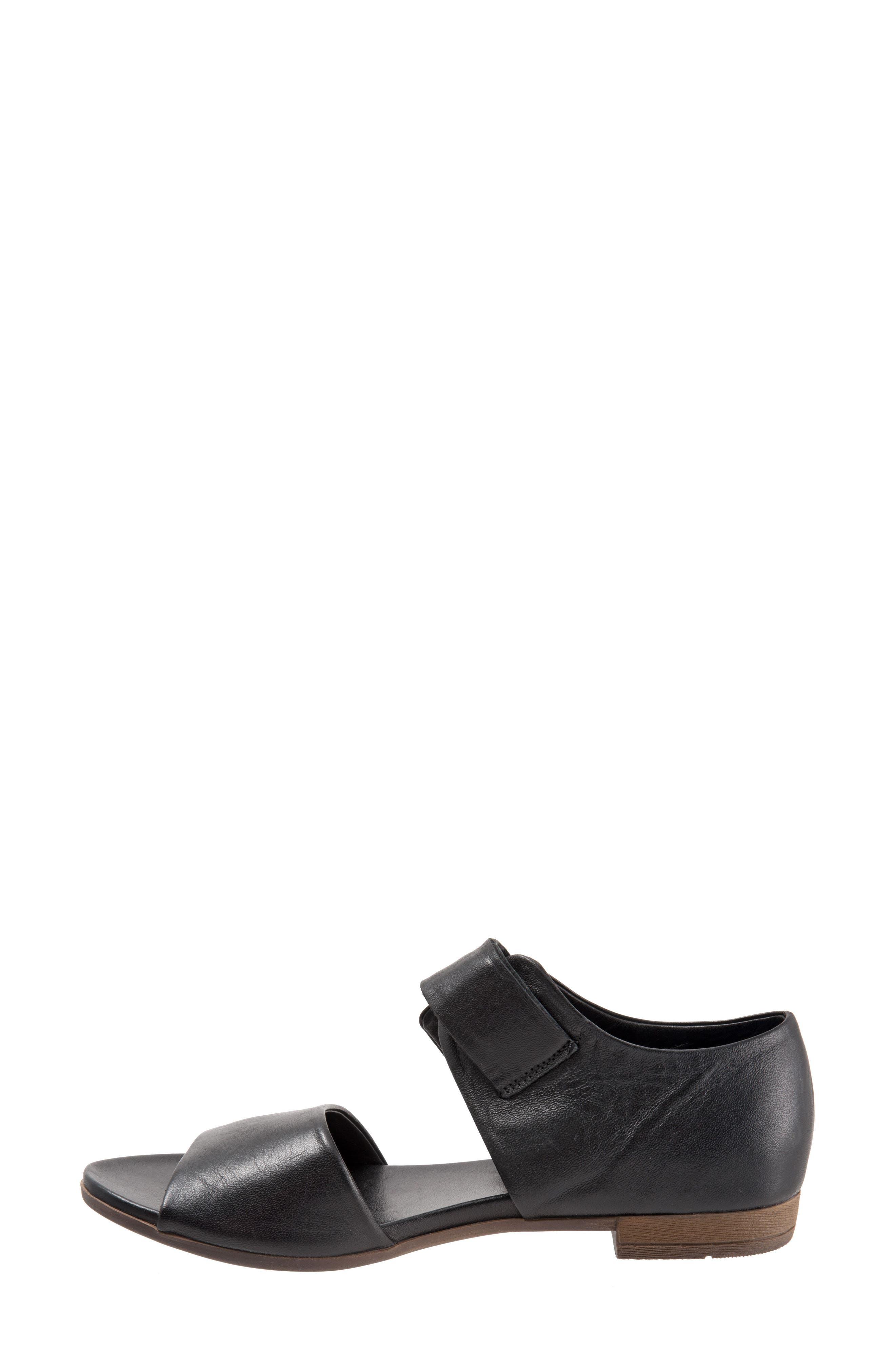 Talia Sandal,                             Alternate thumbnail 4, color,                             Black Leather
