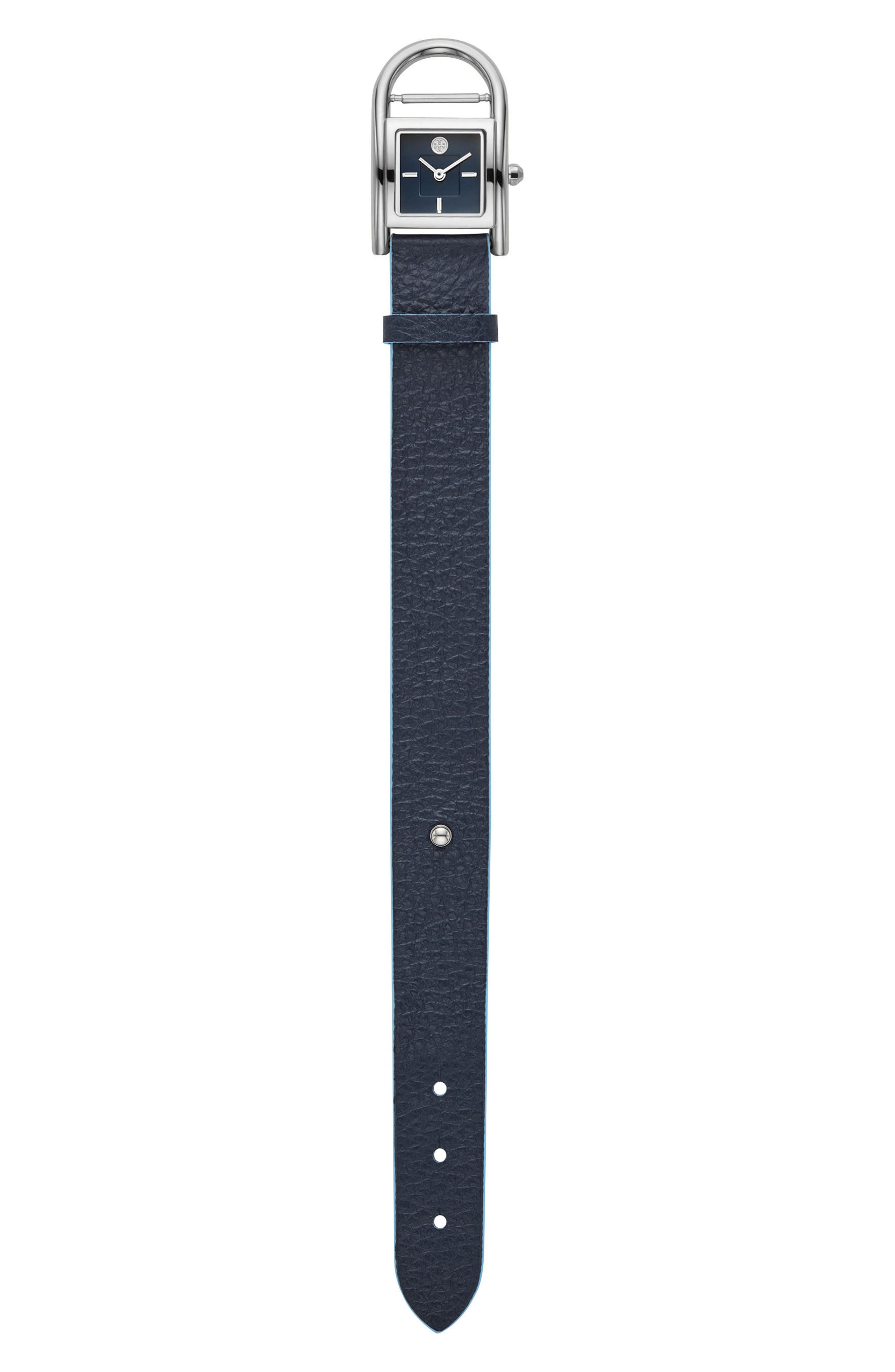 Alternate Image 2  - Tory Burch Thayer Leather Strap Watch, 25mm x 39mm