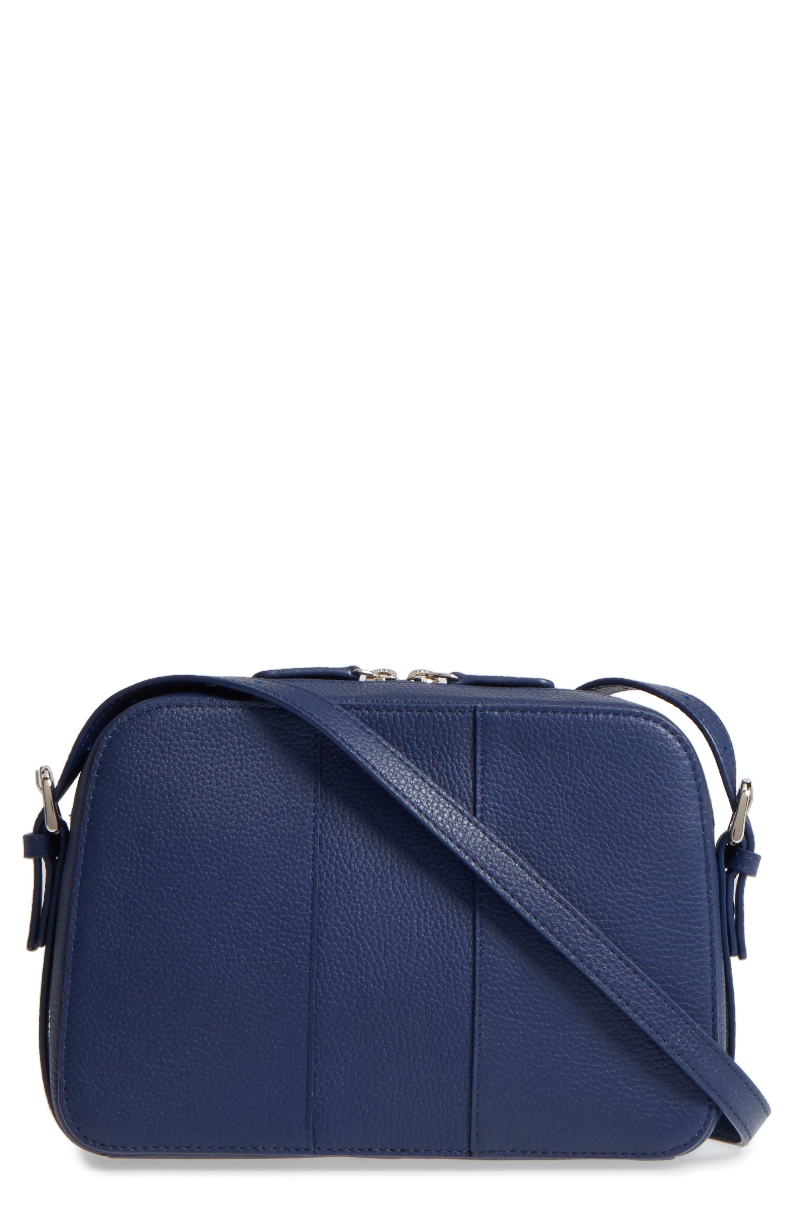 Brayden Leather Crossbody Camera Bag,                         Main,                         color, Navy Patriot