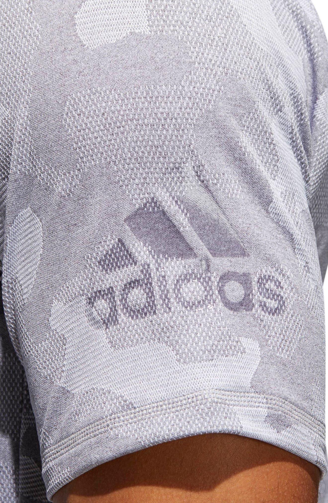 Camo Hype T-Shirt,                             Alternate thumbnail 4, color,                             Grey Three / White