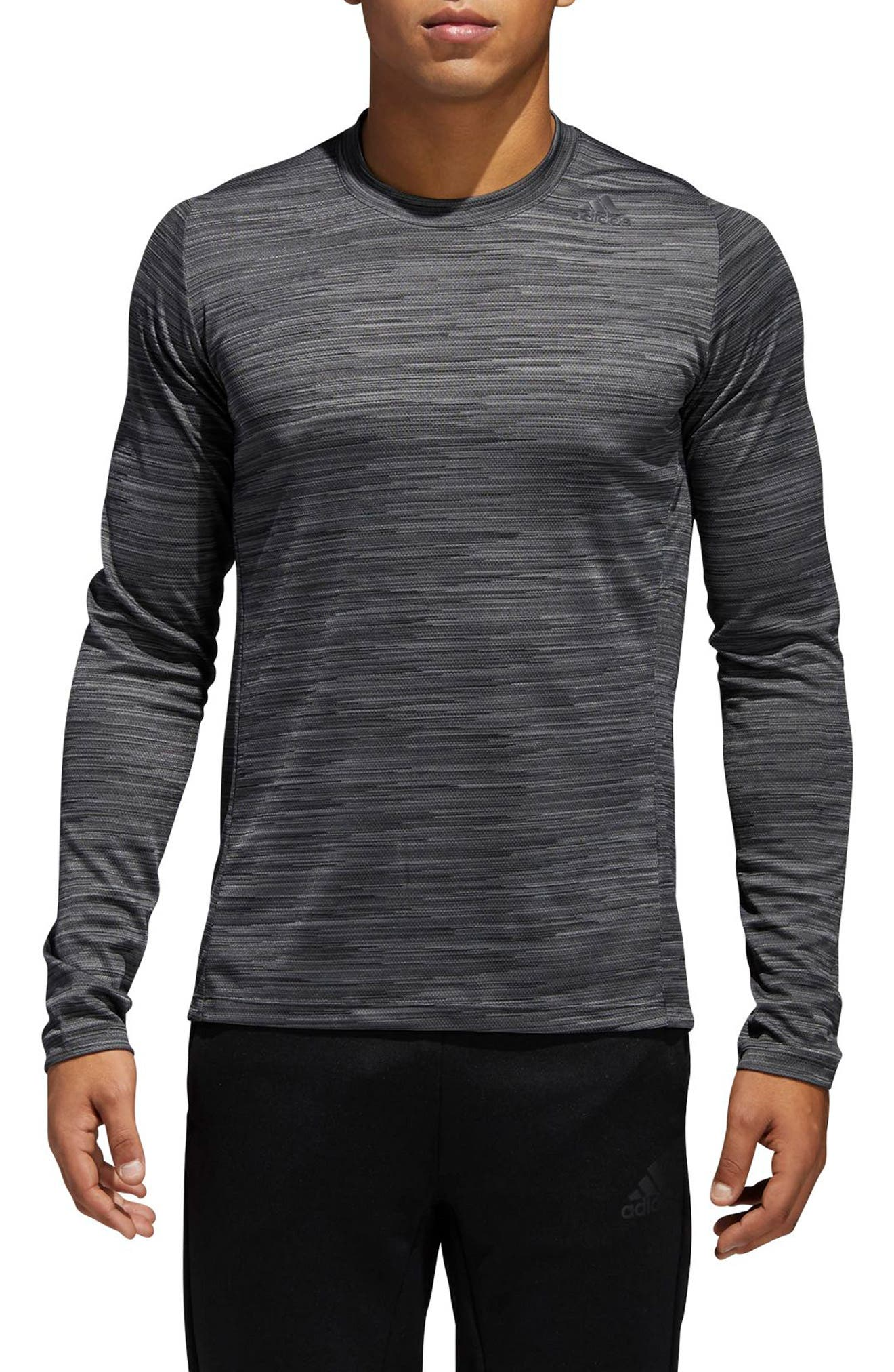 Ultimate Tech Long Sleeve T-Shirt,                             Main thumbnail 1, color,                             Carbon