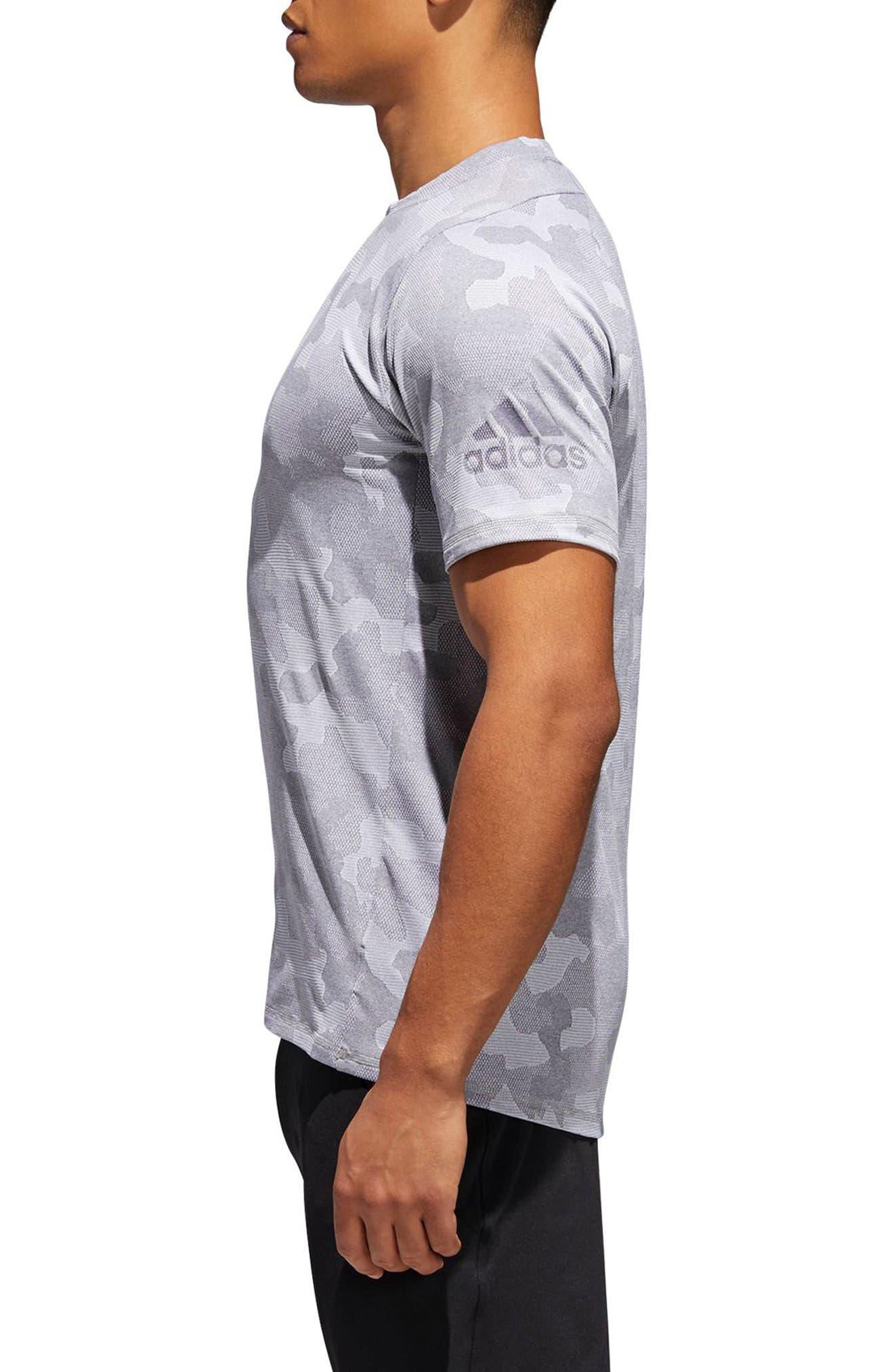 Camo Hype T-Shirt,                             Alternate thumbnail 3, color,                             Grey Three / White